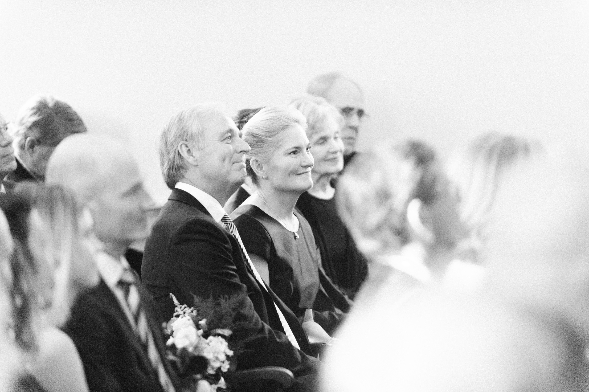 Wee Burn Beach Club Wedding Darien CT Talmidge Hill Community Church Wedding Ceremony black and white photo of parents of the bride