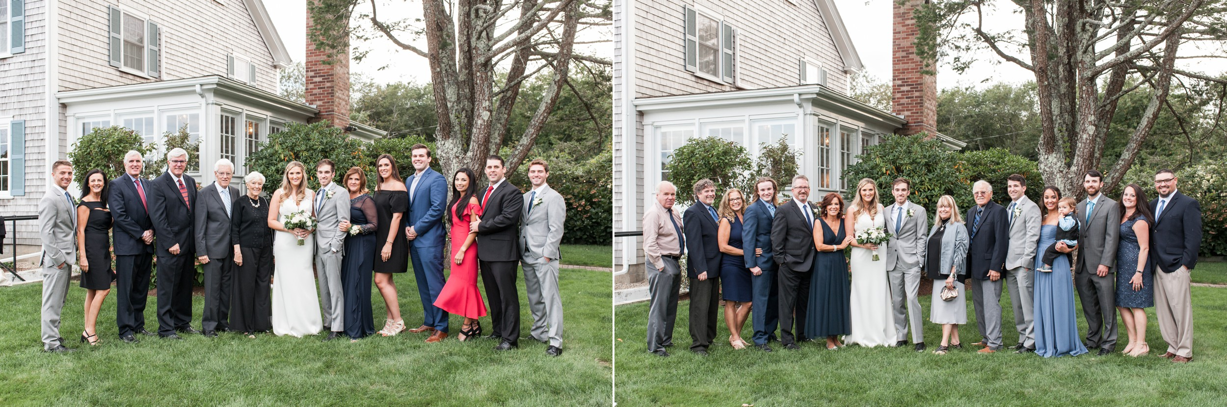 wedding planning family portraits made easy The Dennis Inn wedding extended family photos with aunts uncles and cousins.jpg