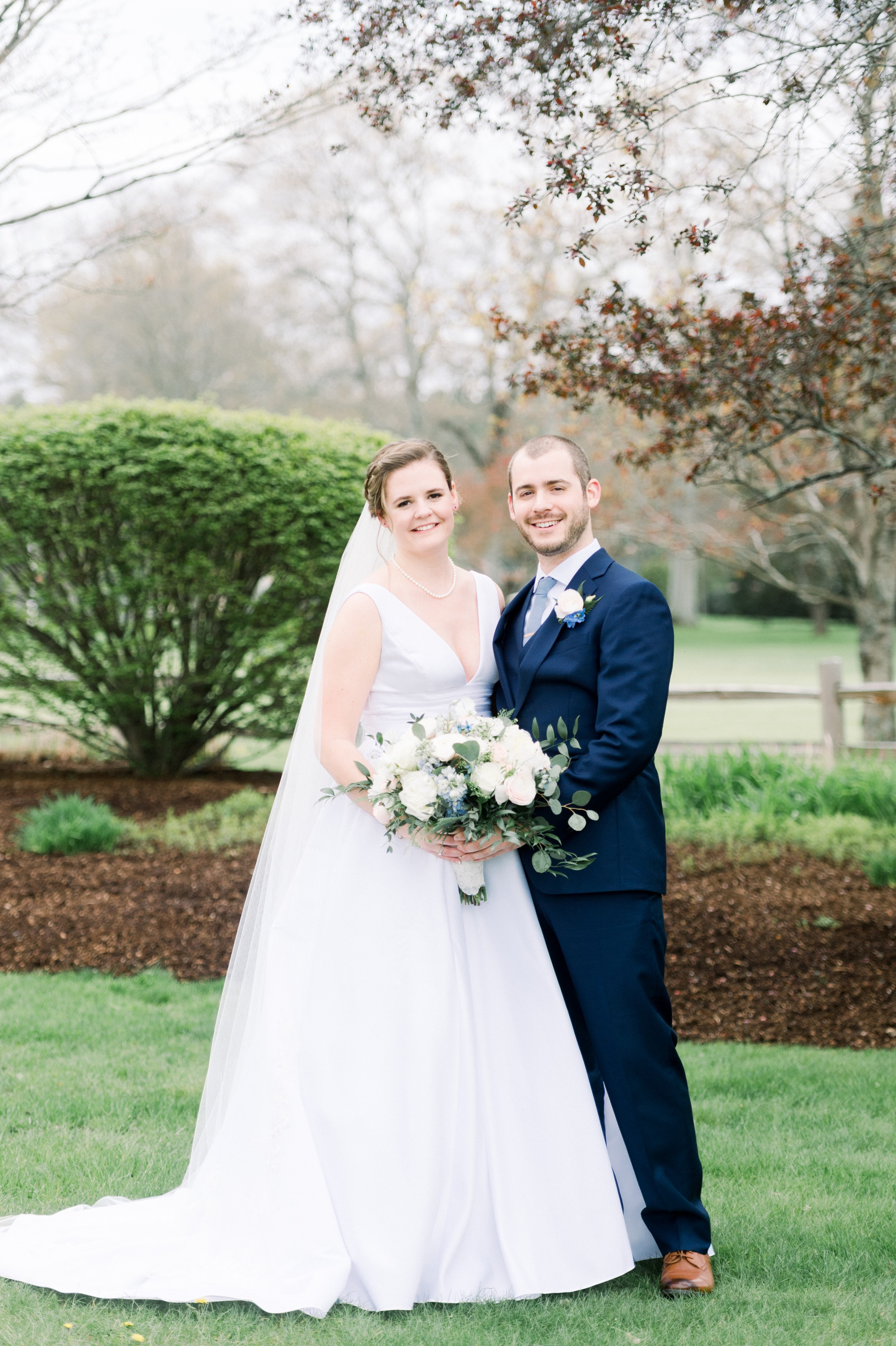 The Villa at Ridder Country Club Spring Wedding Bride and Groom Portraits East Bridgewater MA