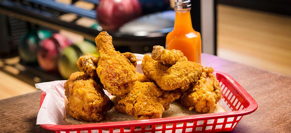 Famous Blue Ribbon Fried Chicken in a Basket