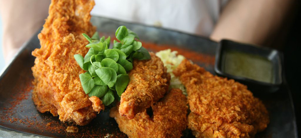 """Fried Chicken """"Blue Ribbon Style"""""""