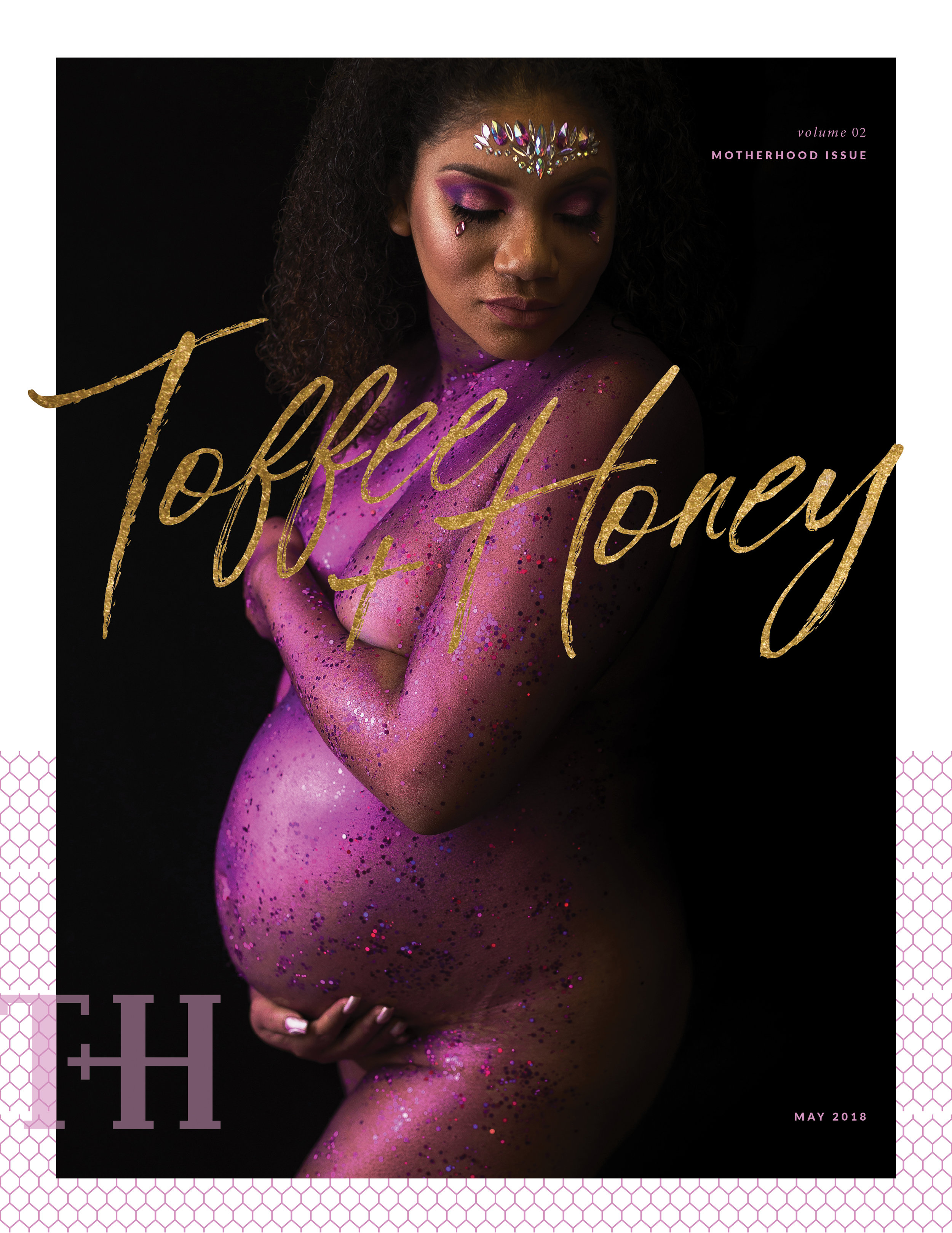 graphic designer for Toffee + Honey Magazine with Tomayia Colvin Education -