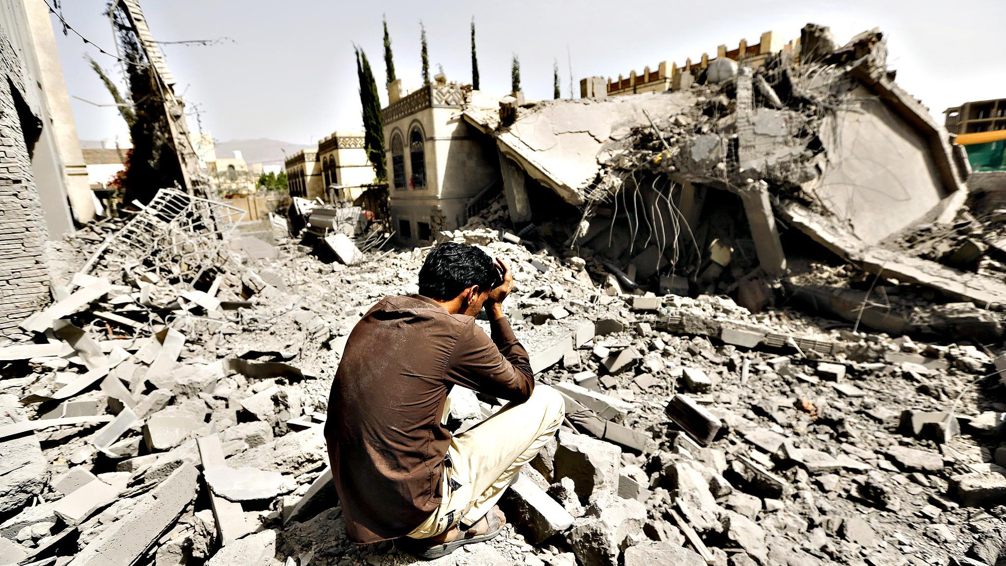 A tiny piece of the destruction and chaos in Yemen. Don't Google Image search unless you have a strong stomach.   Photo Credit: highschool.latimes.com