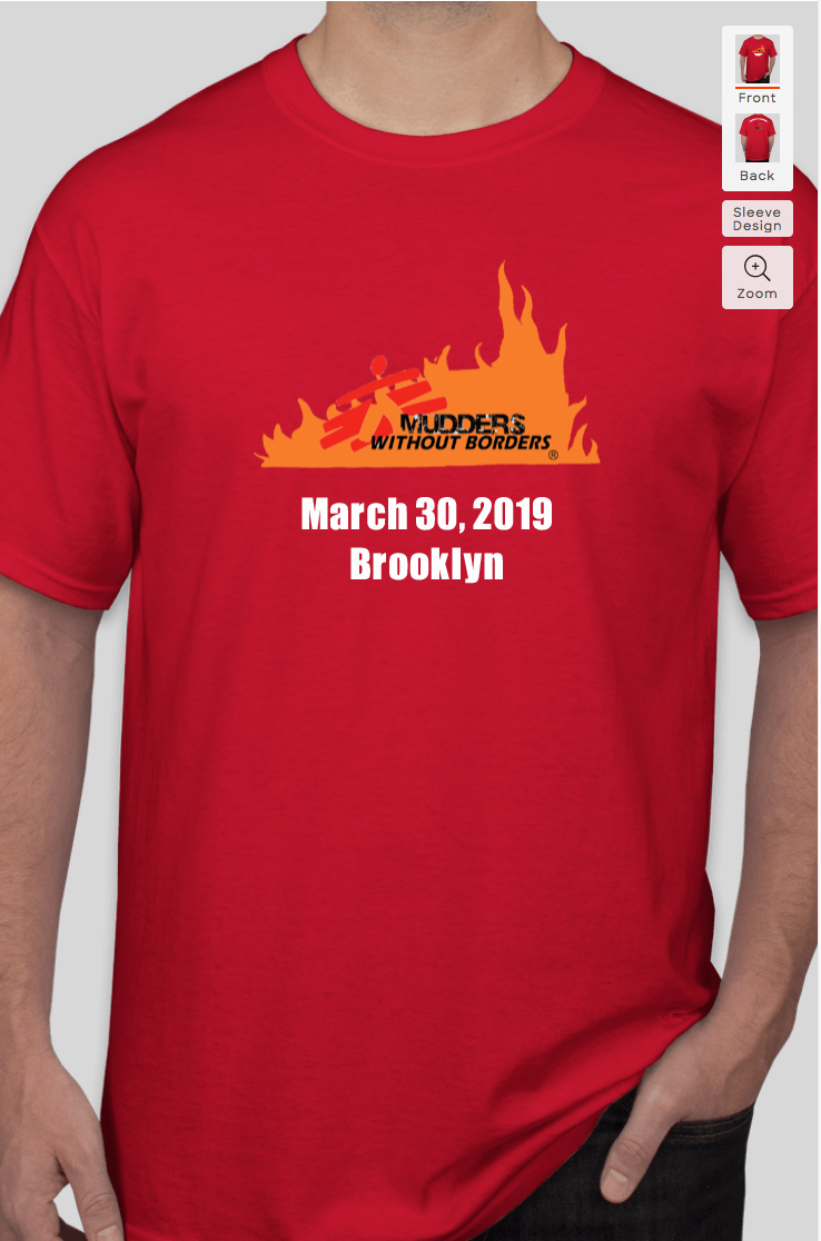 Sample event t-shirt design front