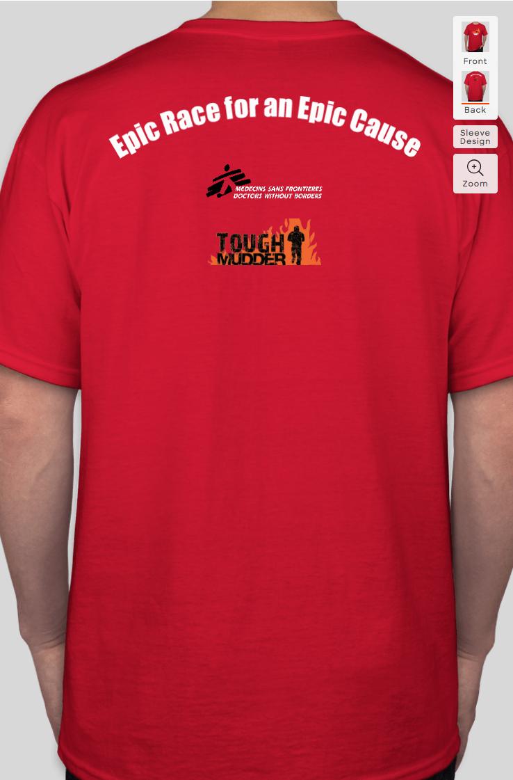 Sample event t-shirt back