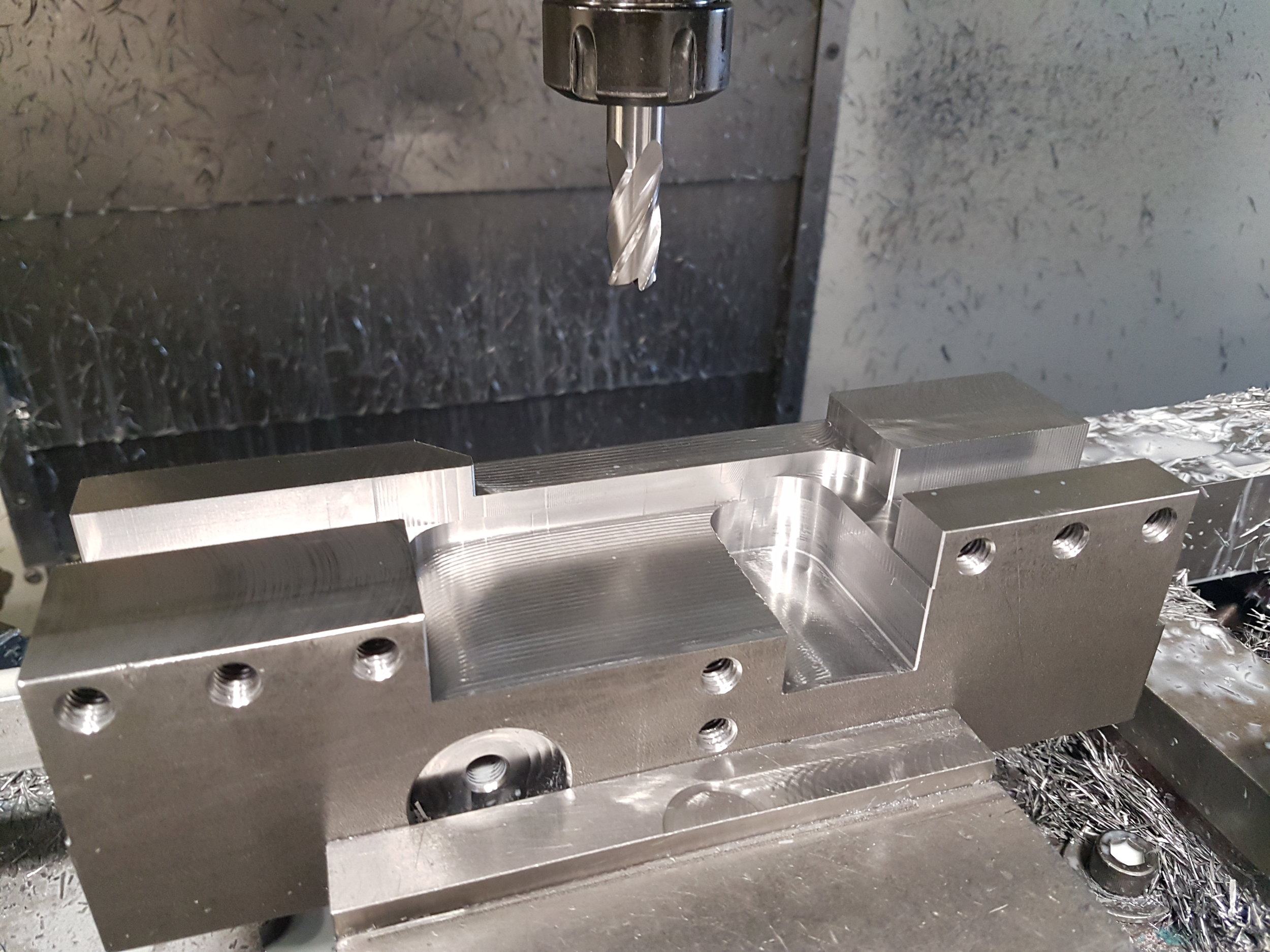 Lots of internal features to machine but we've designed to be quick to machine.