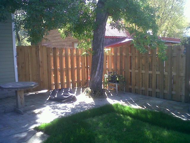 """The Shadow Box Fence is very similar to privacy fences except that there is no """"back"""" of the fence. Both sides look about the same, hence the name """"Good Neighbor"""" fence."""