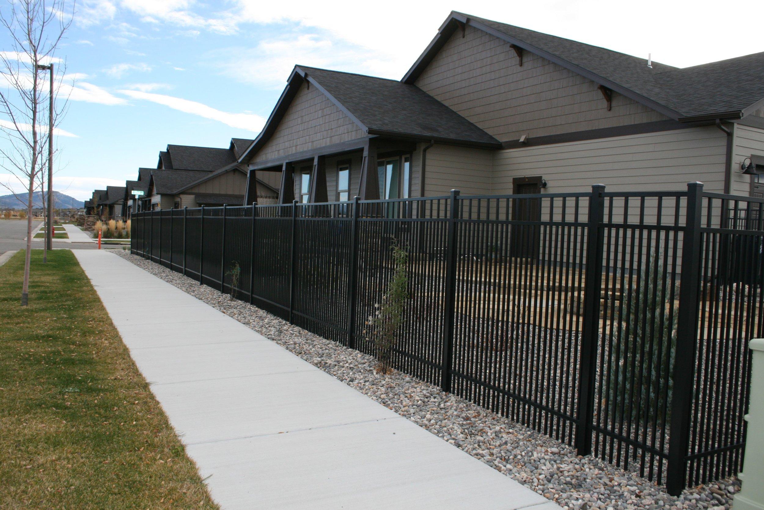 """""""Southbridge"""" metal fence"""