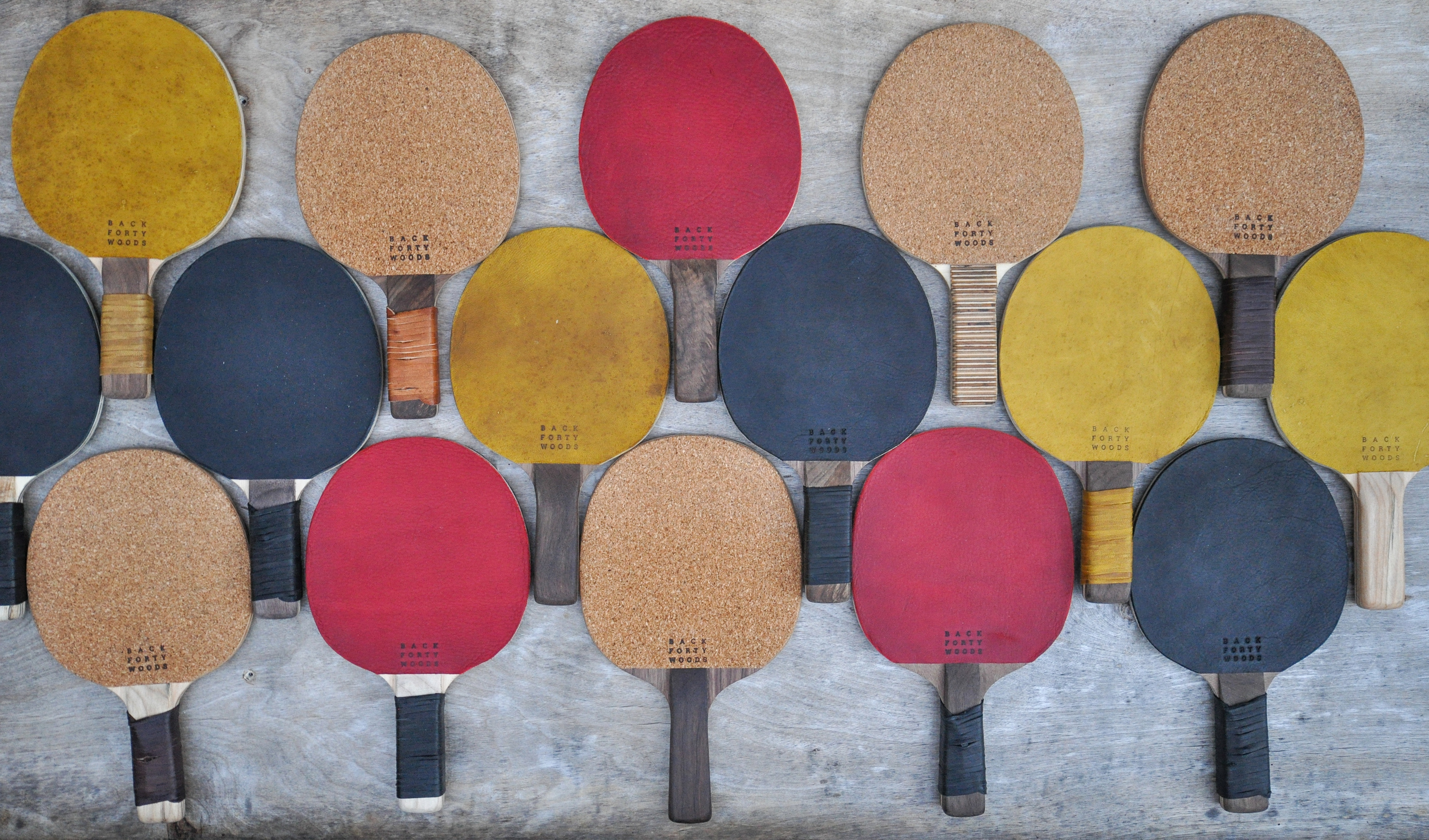 Custom Specialty Cork and Leather Table Tennis Blades