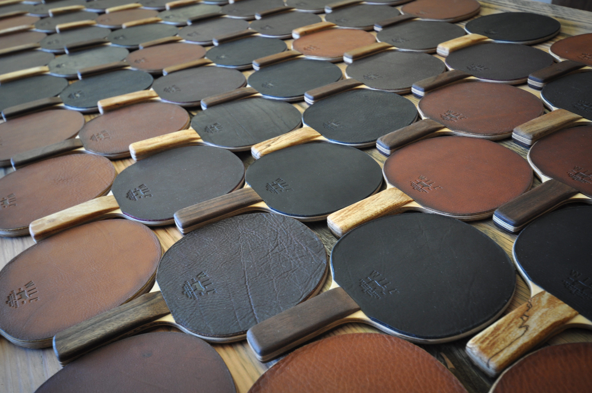 Will Leather Goods Custom Leather Ping Pong Paddles