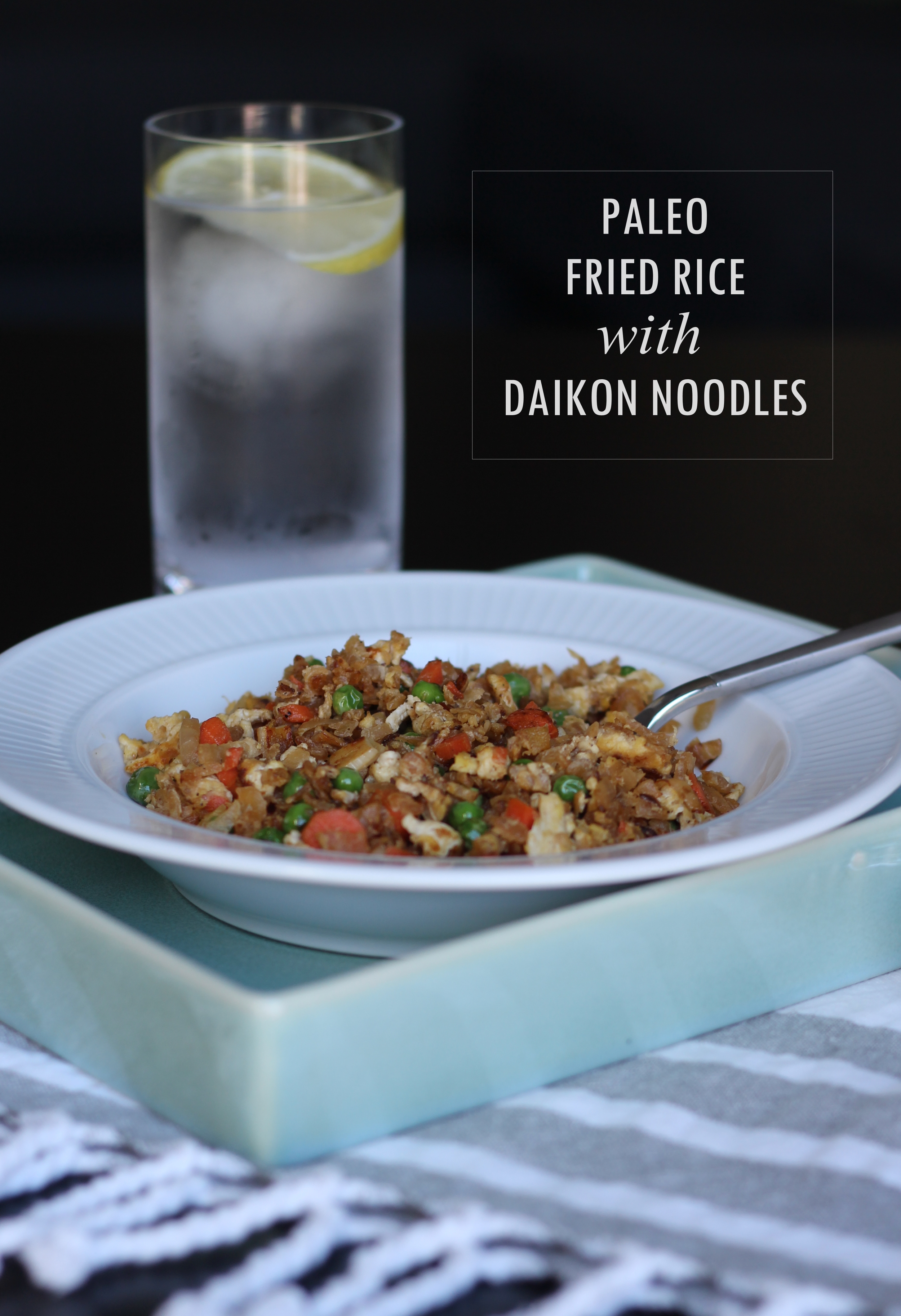 Paleo Fried Rice with Daikon Noodles | Freckled Italian