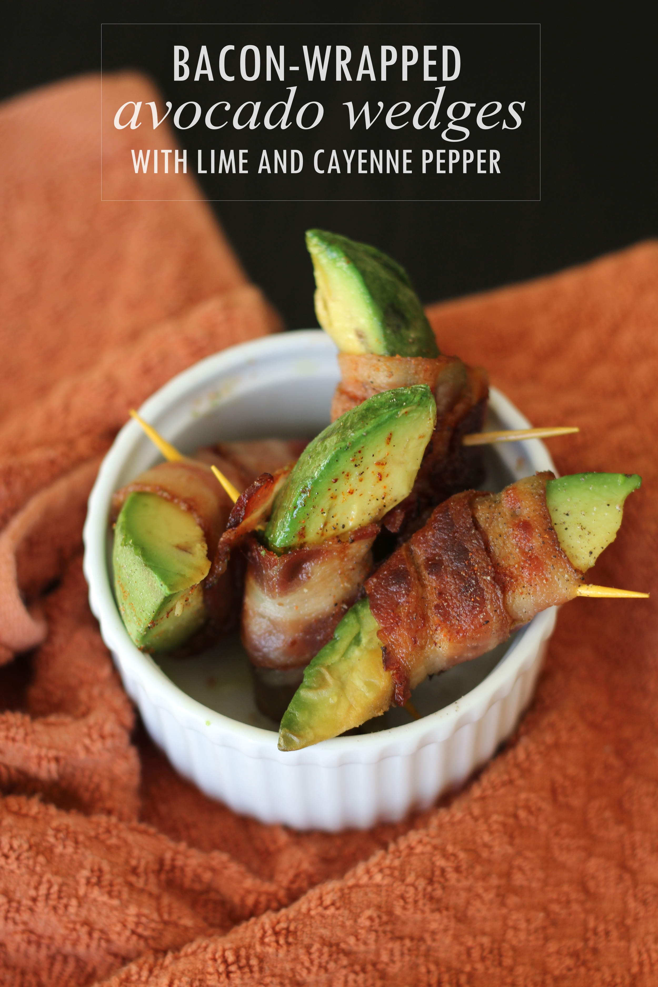 Bacon-Wrapped Avocado Wedges
