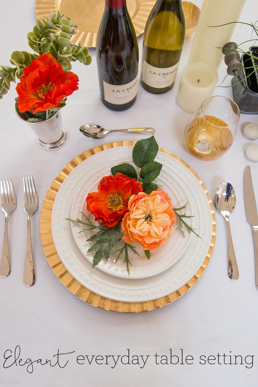 Elegant Everyday Table Setting | Freckled Italian