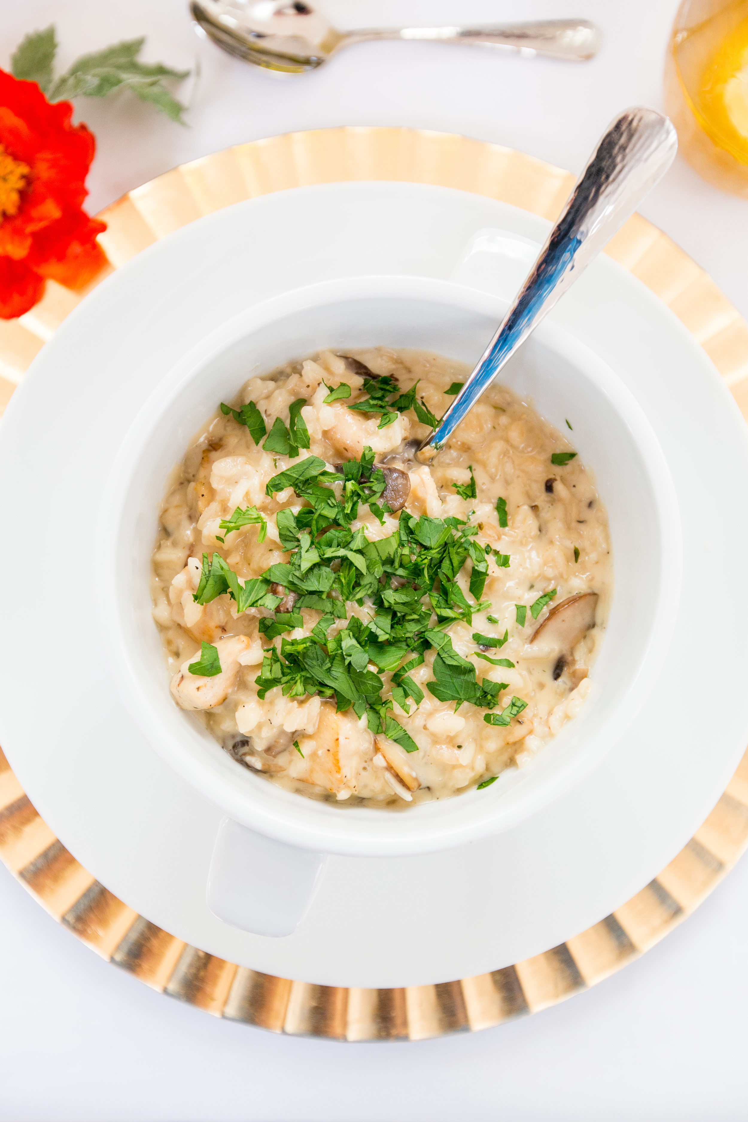Chicken and Mushroom Risotto | Freckled Italian