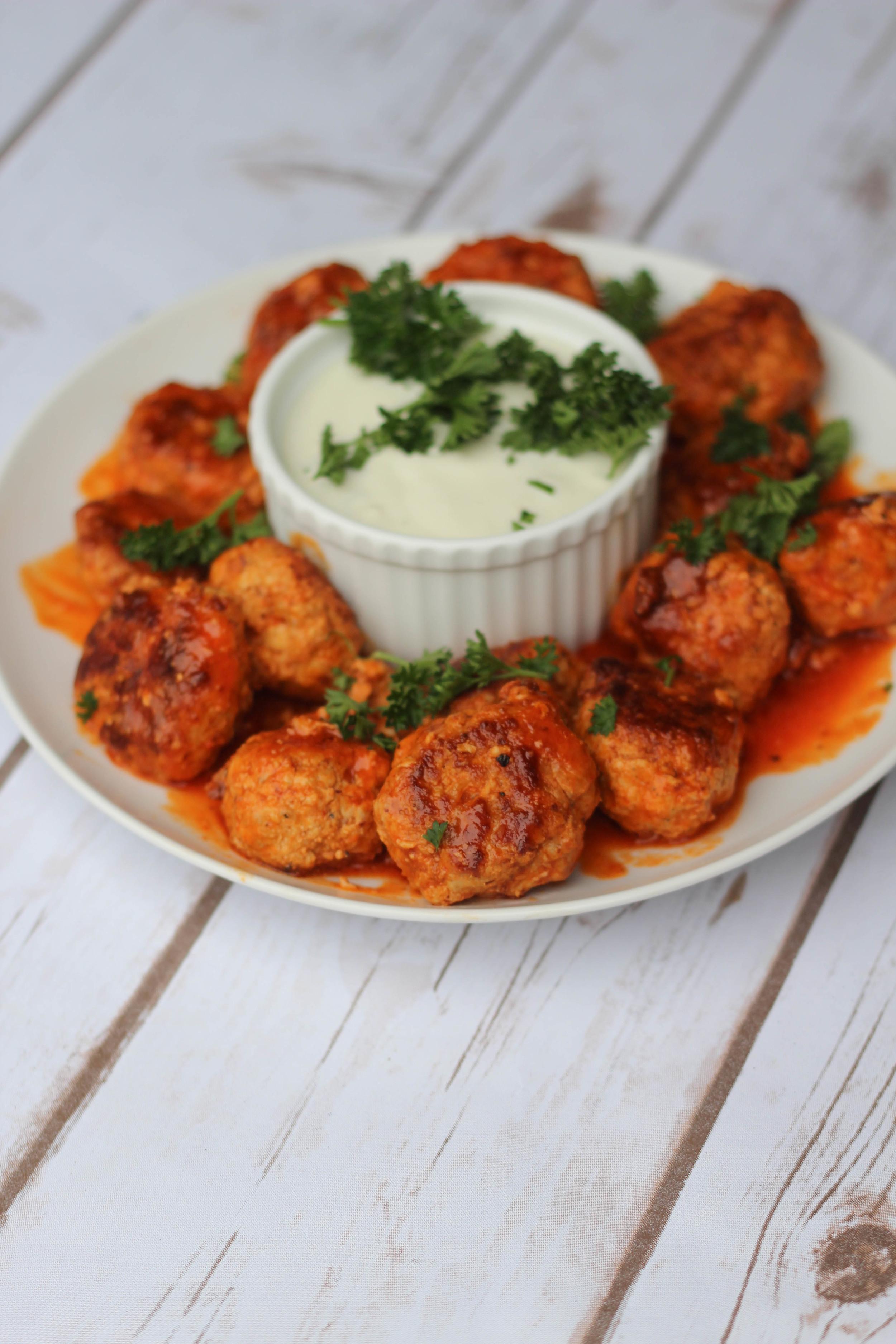 Paleo Buffalo Chicken Meatballs | Freckled Italian