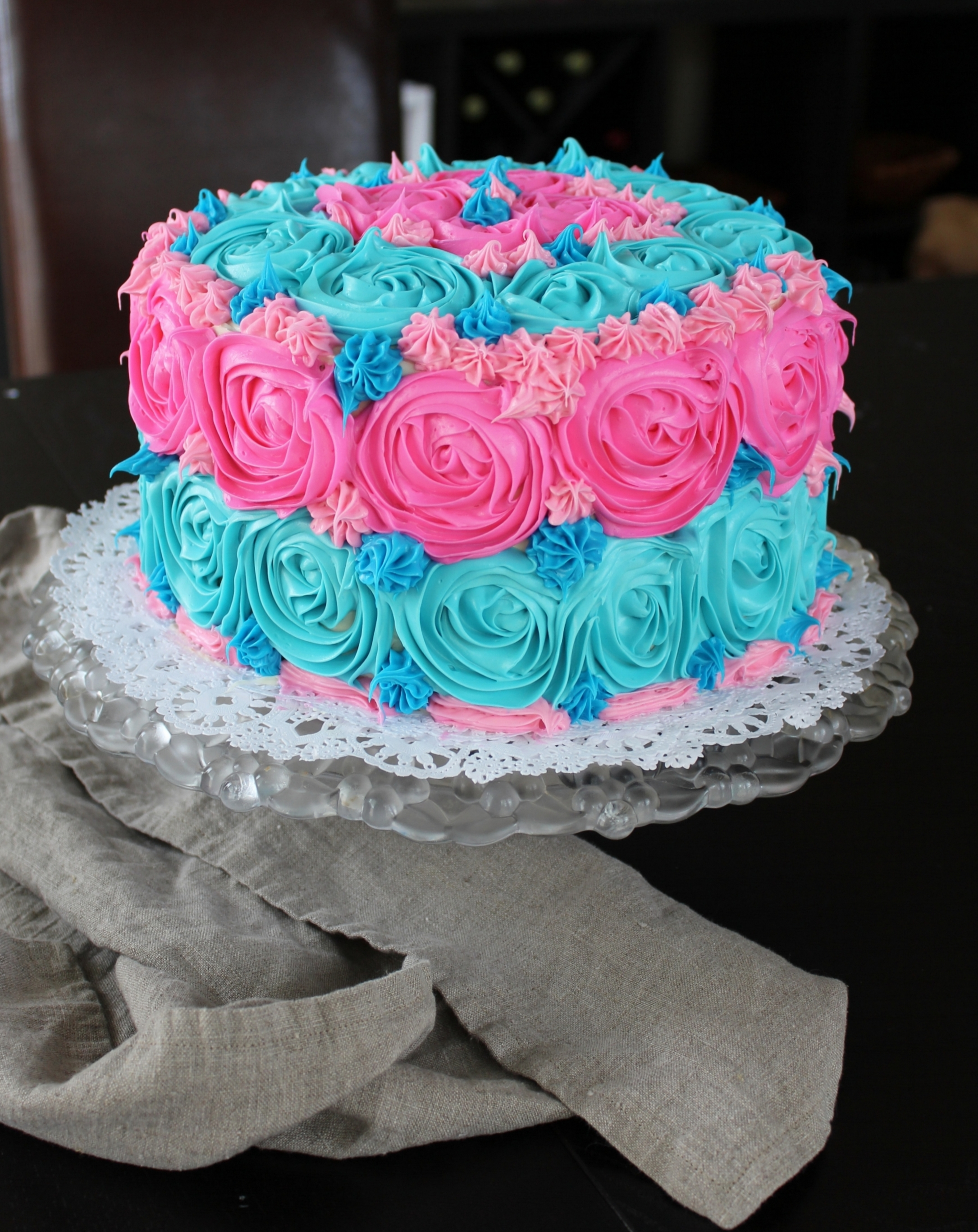 Gender Reveal Party Cake | Freckled Italian