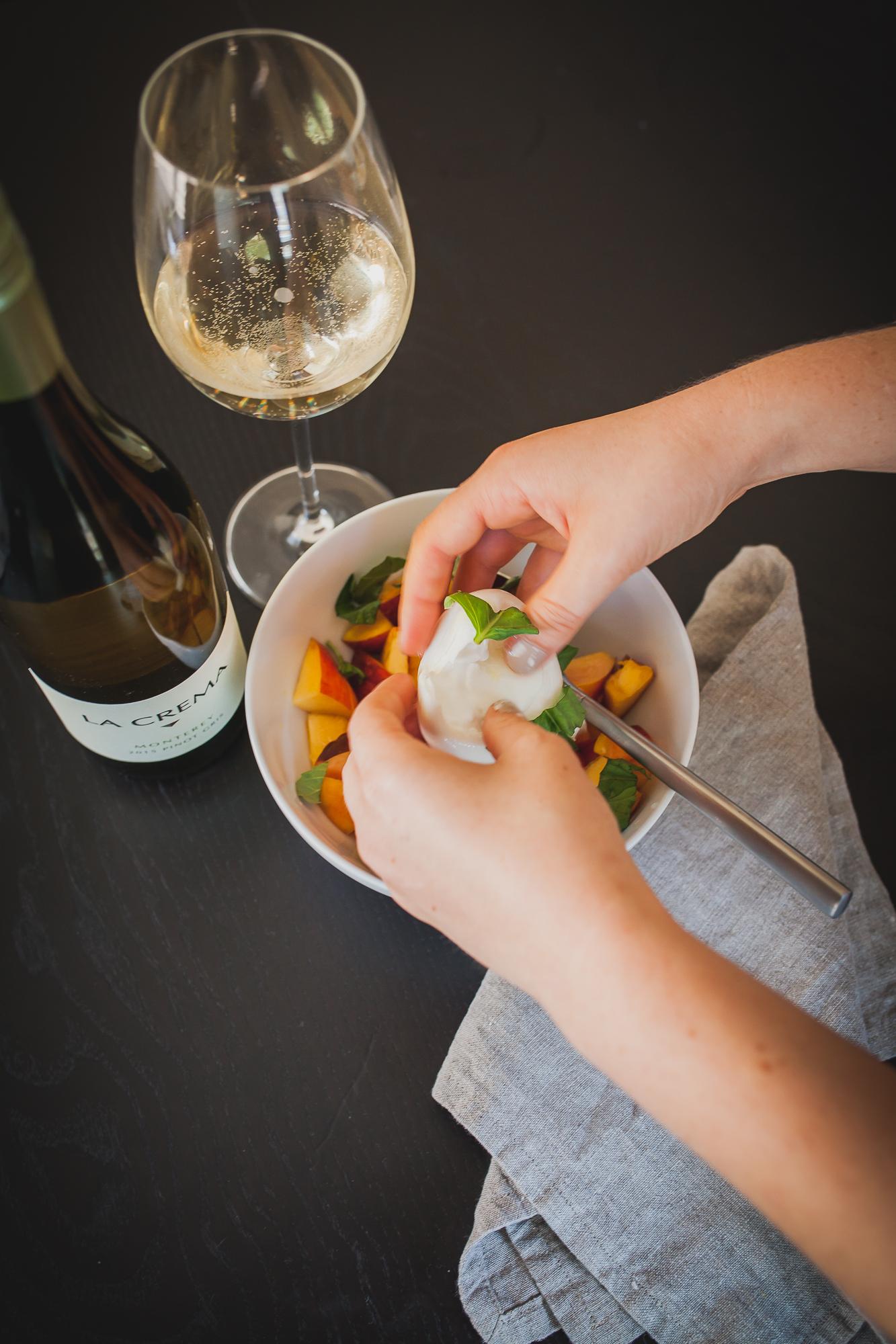 Peach and Basil Salad with Burrata   Freckled Italian