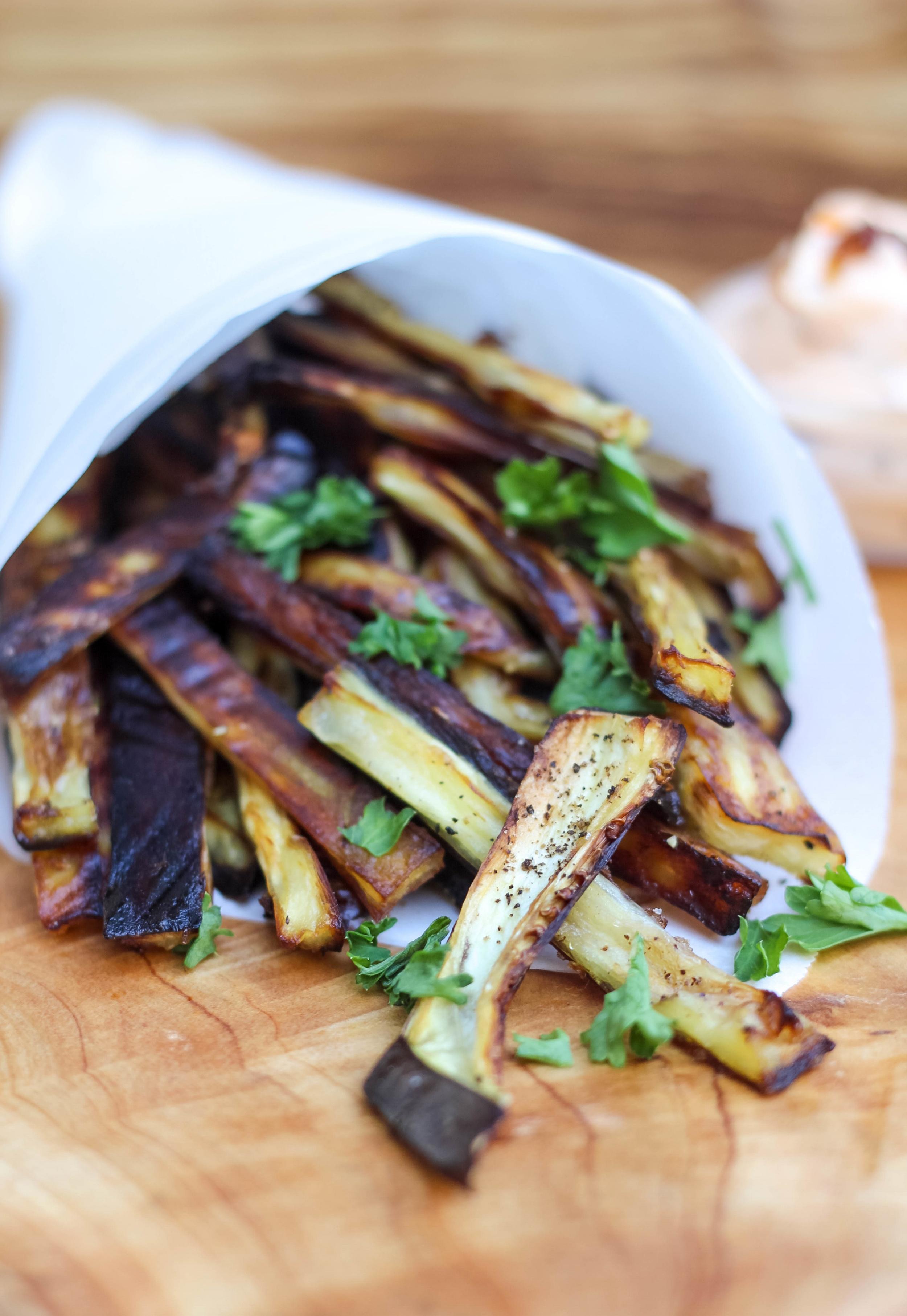 Paleo Eggplant Fries | Freckled Italian