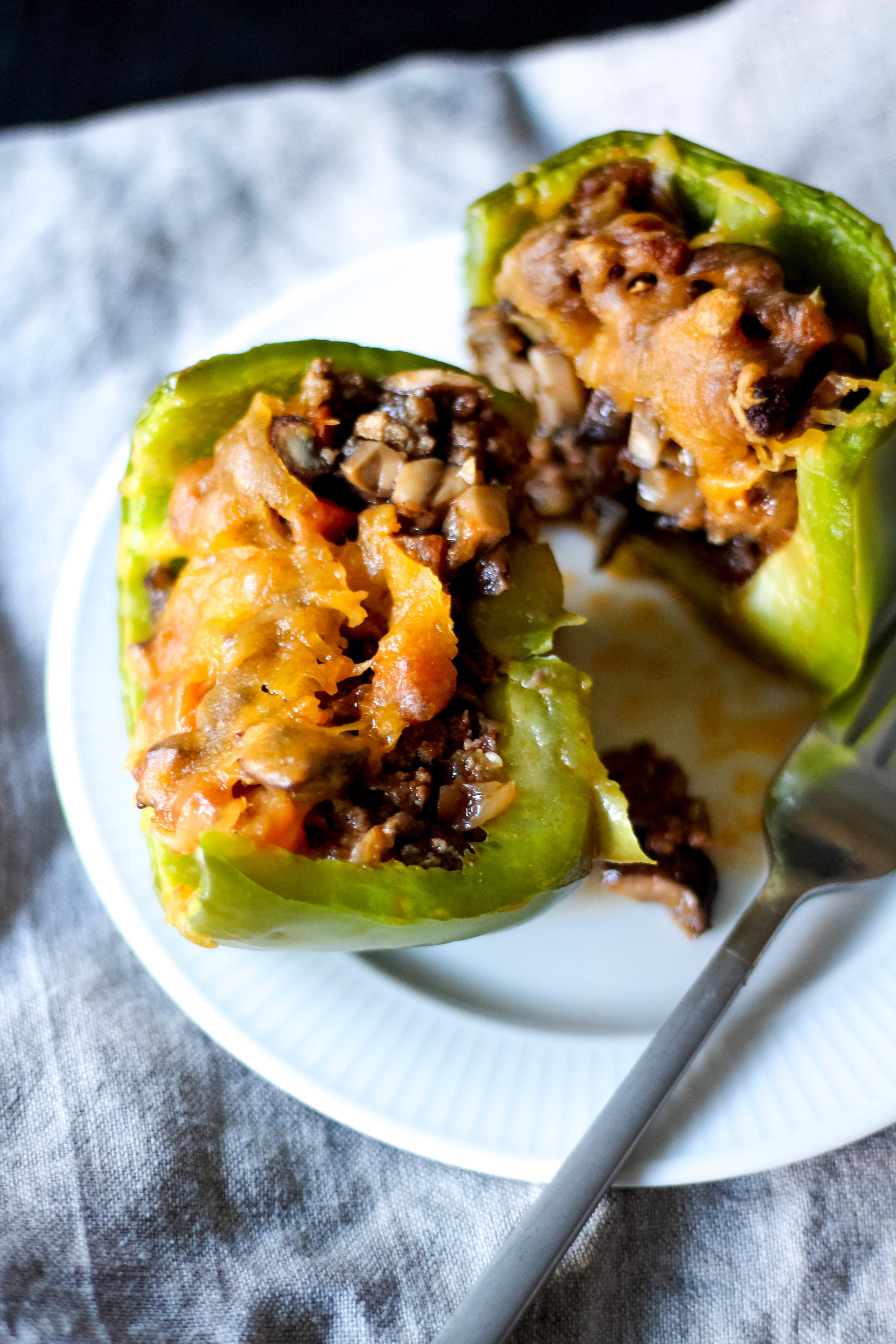 Keto Cheeseburger-Stuffed Peppers | Freckled Italian