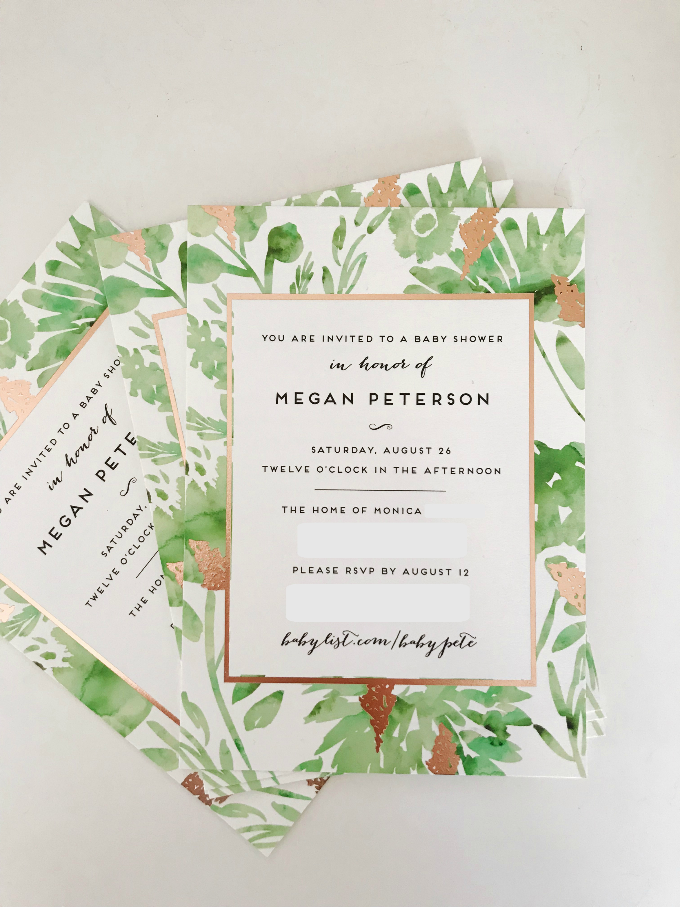 Minted Baby Shower Invite | Freckled Italian