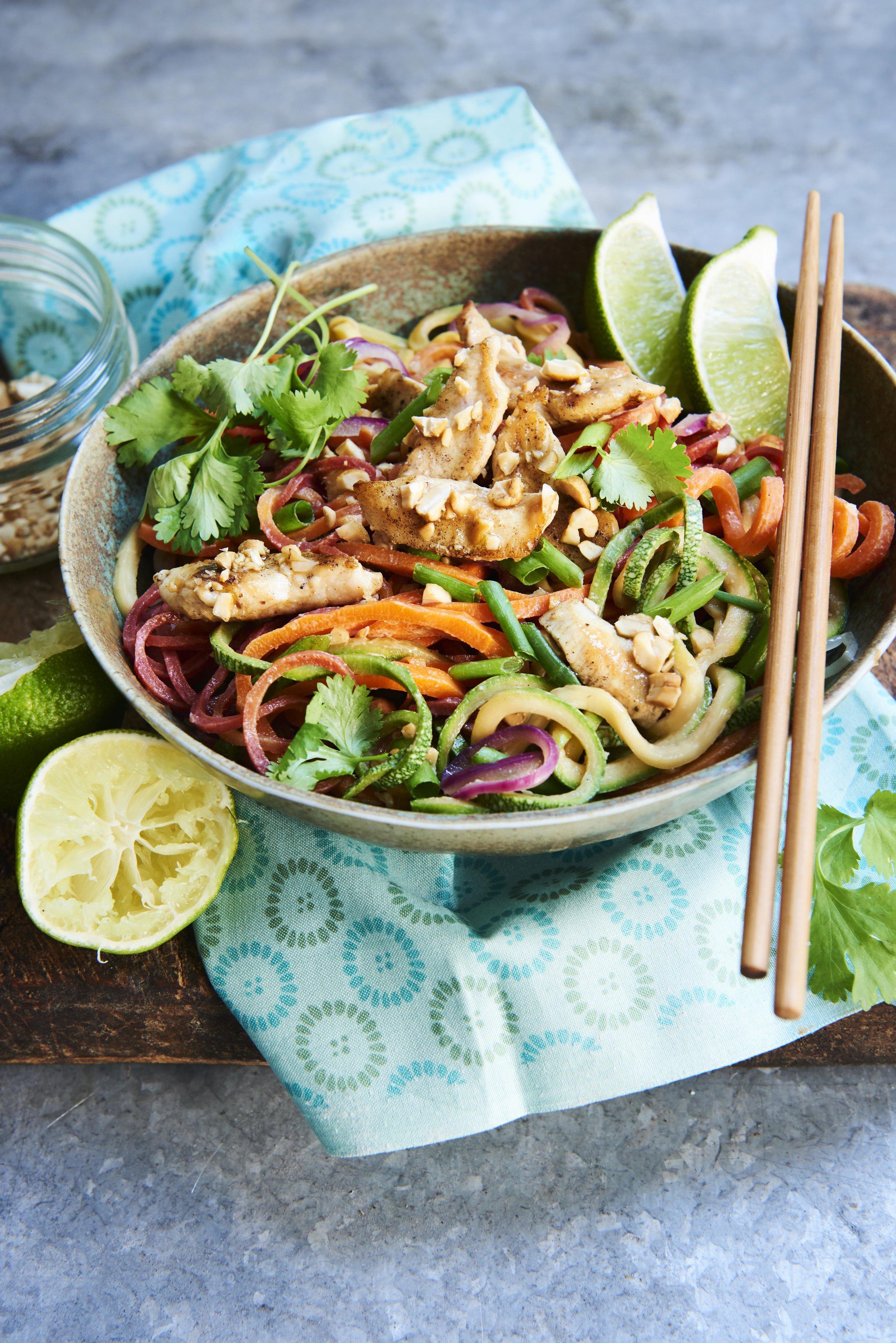 Chicken Pad Thai from Quick + Easy Spiralizer