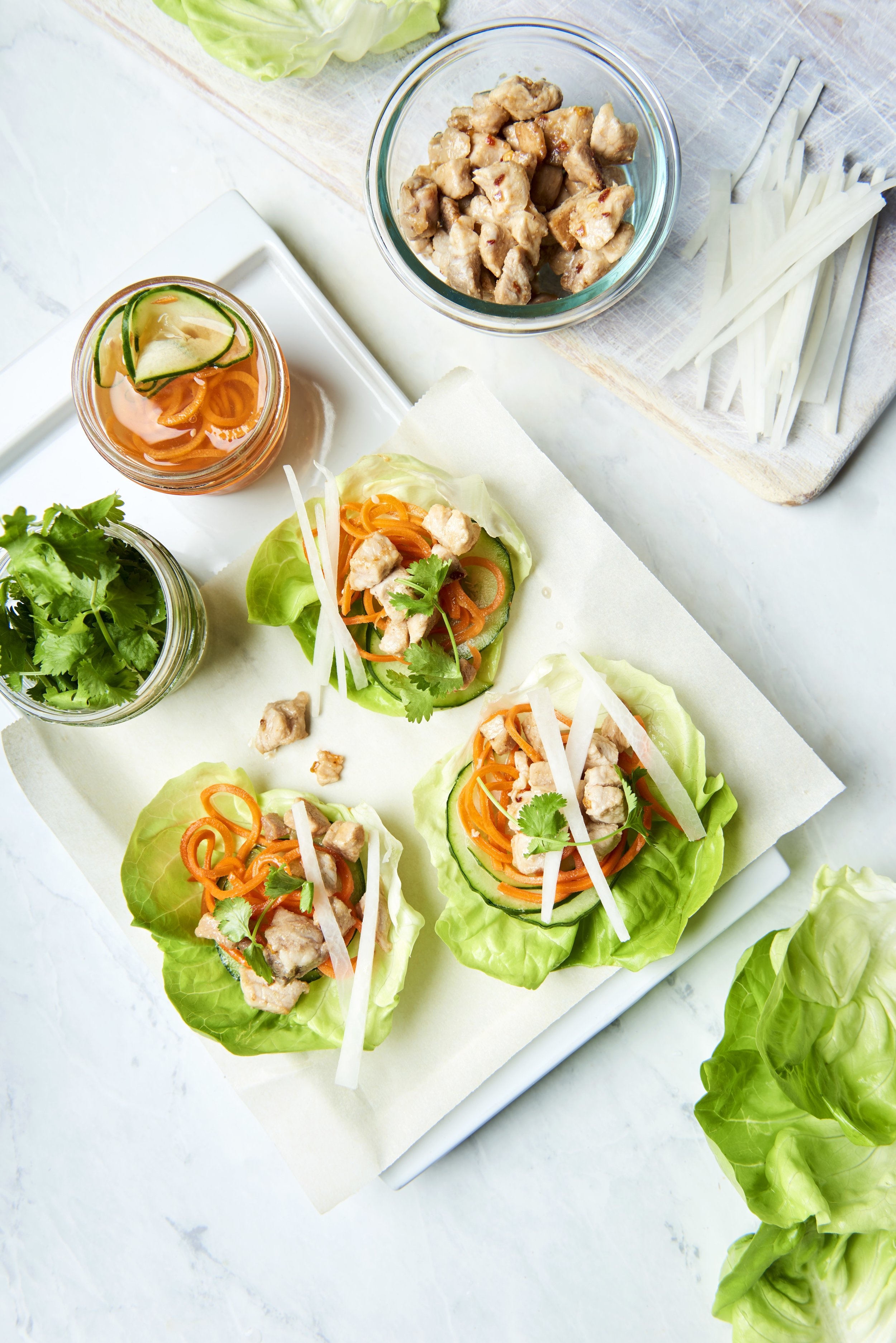 Bánh Mì Lettuce Wraps | Freckled Italian