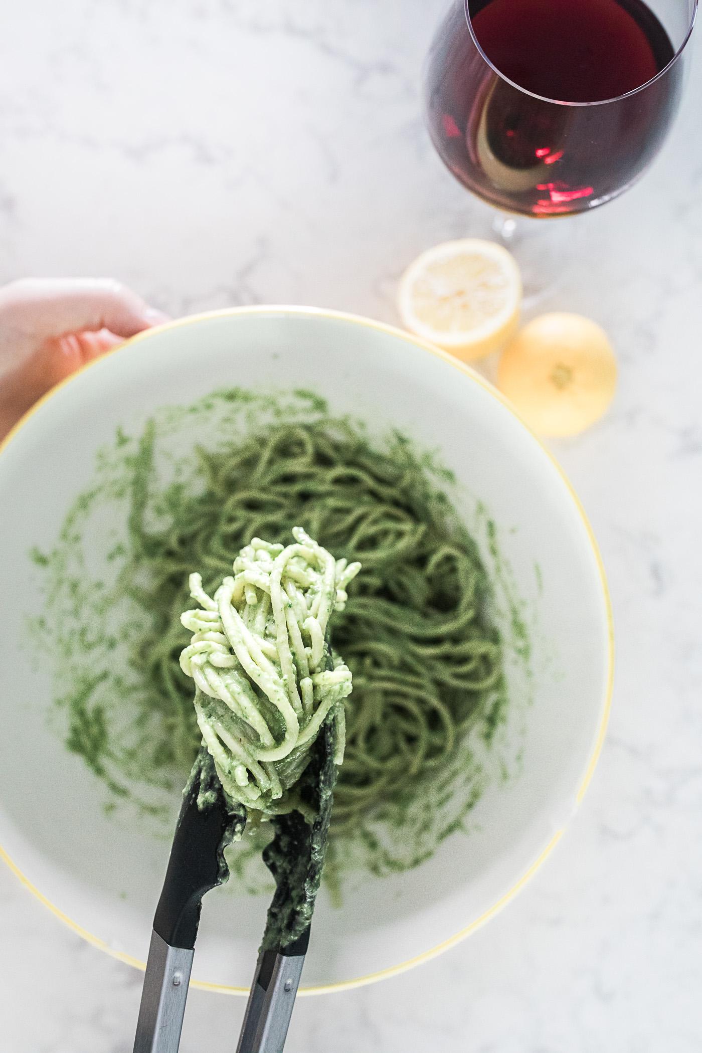 Pasta with Pesto | Freckled Italian