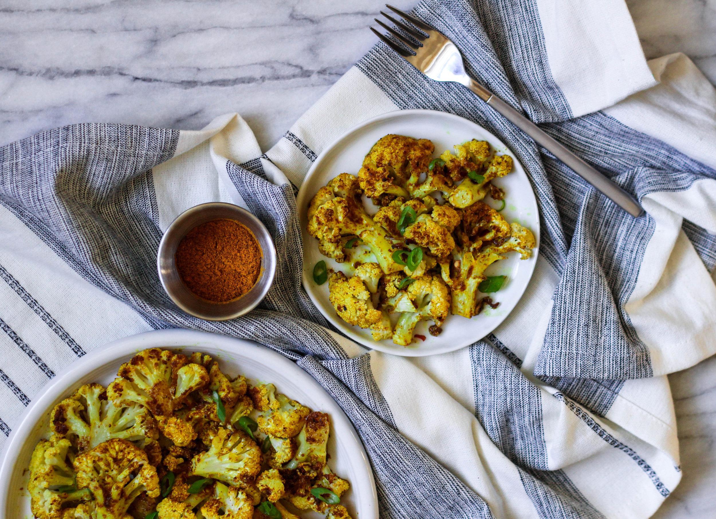 Roasted Curry Cauliflower | Freckled Italian