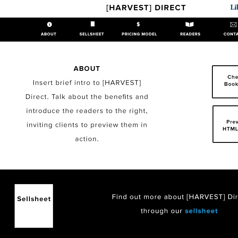 WIREFRAME for [HARVEST] DIRECT