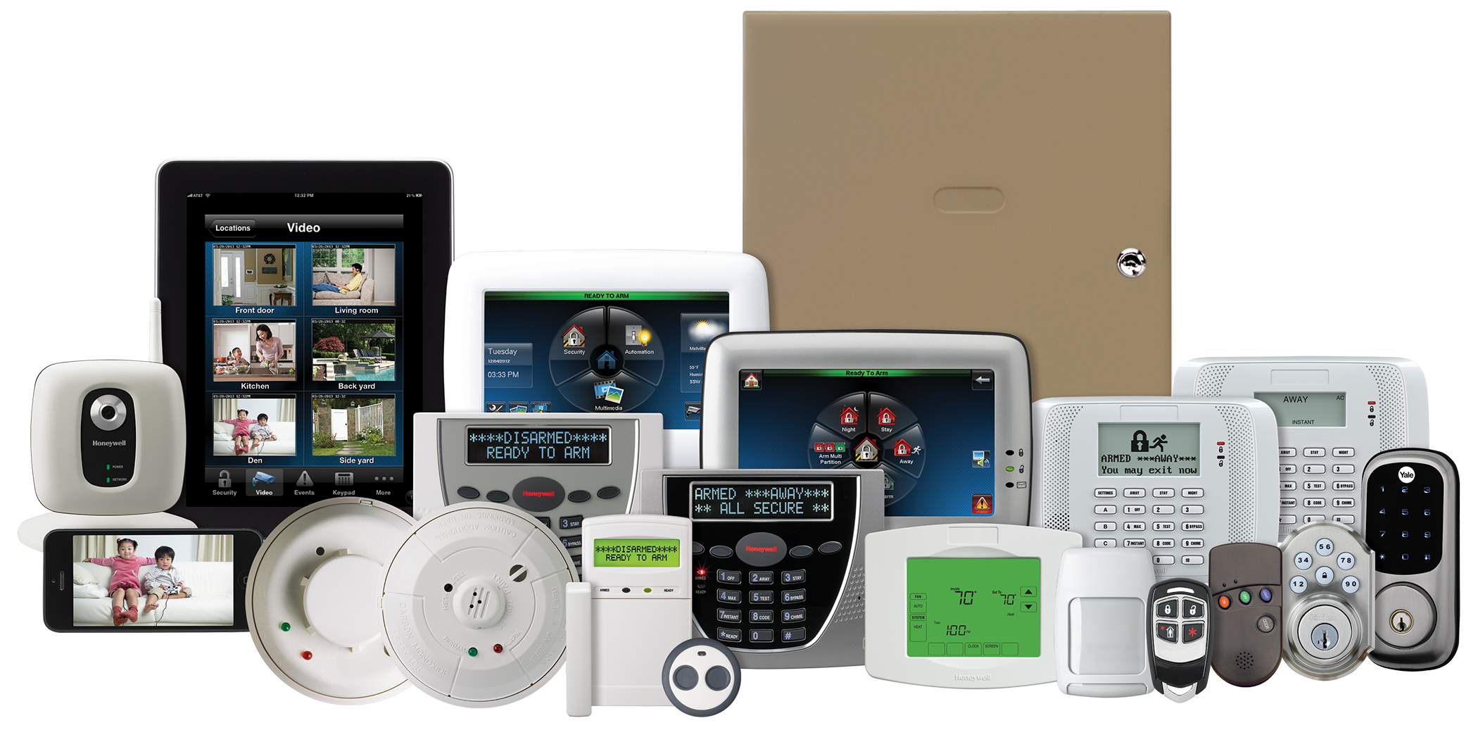 The Honeywell Security Vista Series line of equipment.