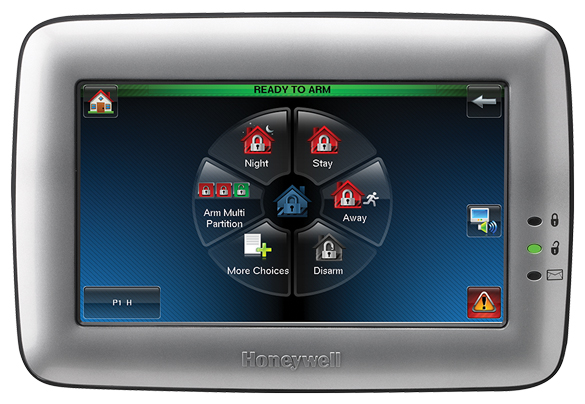 The Honeywell Tuxedo Touch keypad is the top of the line option. When you want all the bells and whistles, this is the keypad for you. This keypad is also perfect for customers looking at home automation.