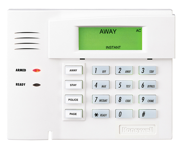 The Honeywell 6150 Keypad is our standard keypad.