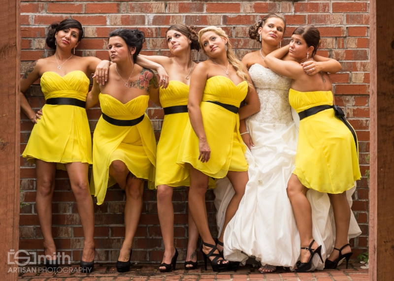 Shena Klinger and her bridesmaids
