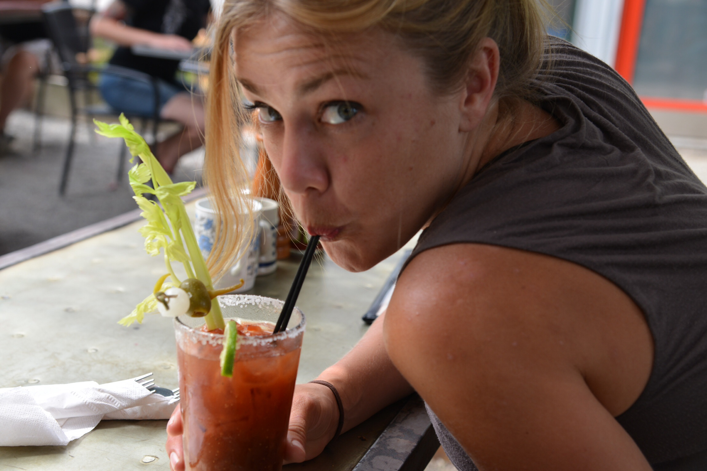 Rosemary infused Bloody Mary at the Tin Shed in Portland