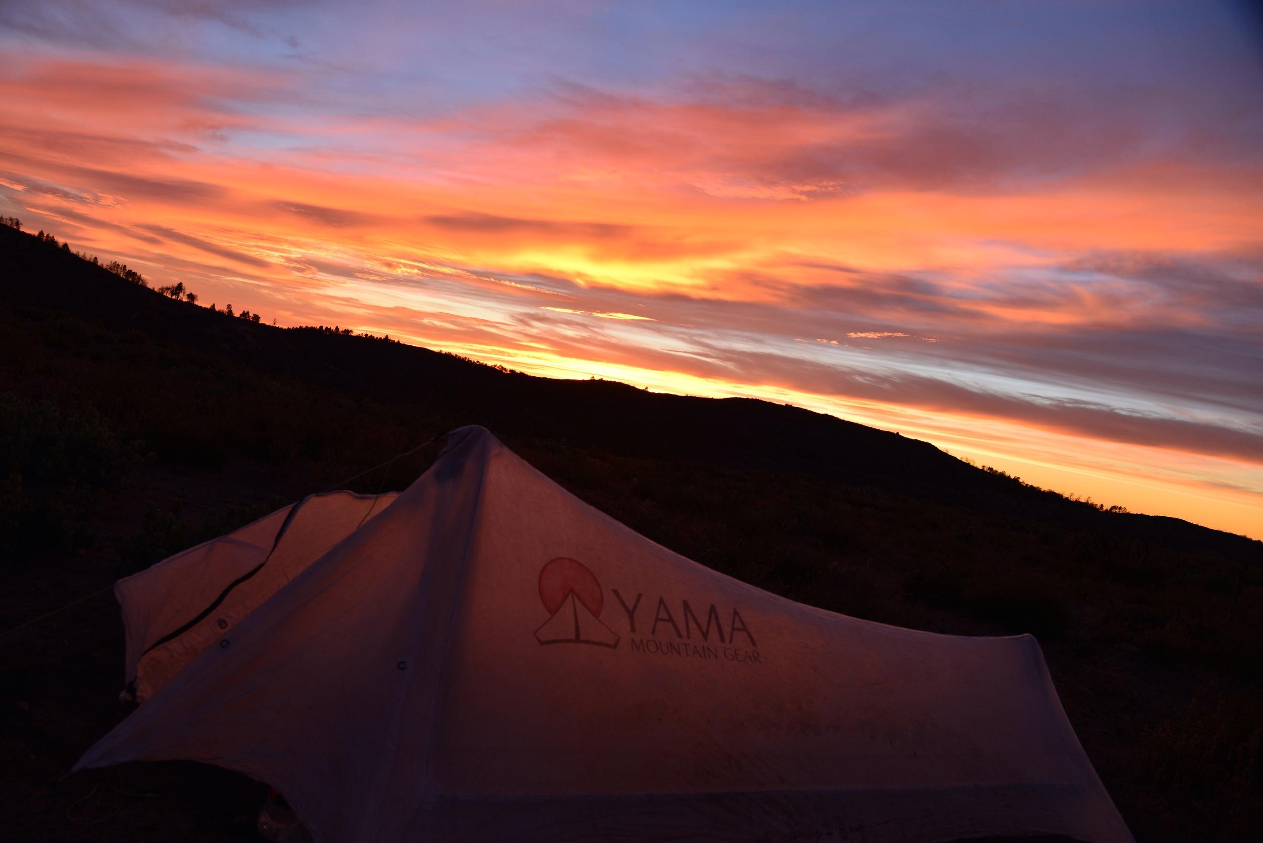 Best home ever! Yama Mountain Gear's 15.5 oz cuben cirriform tent