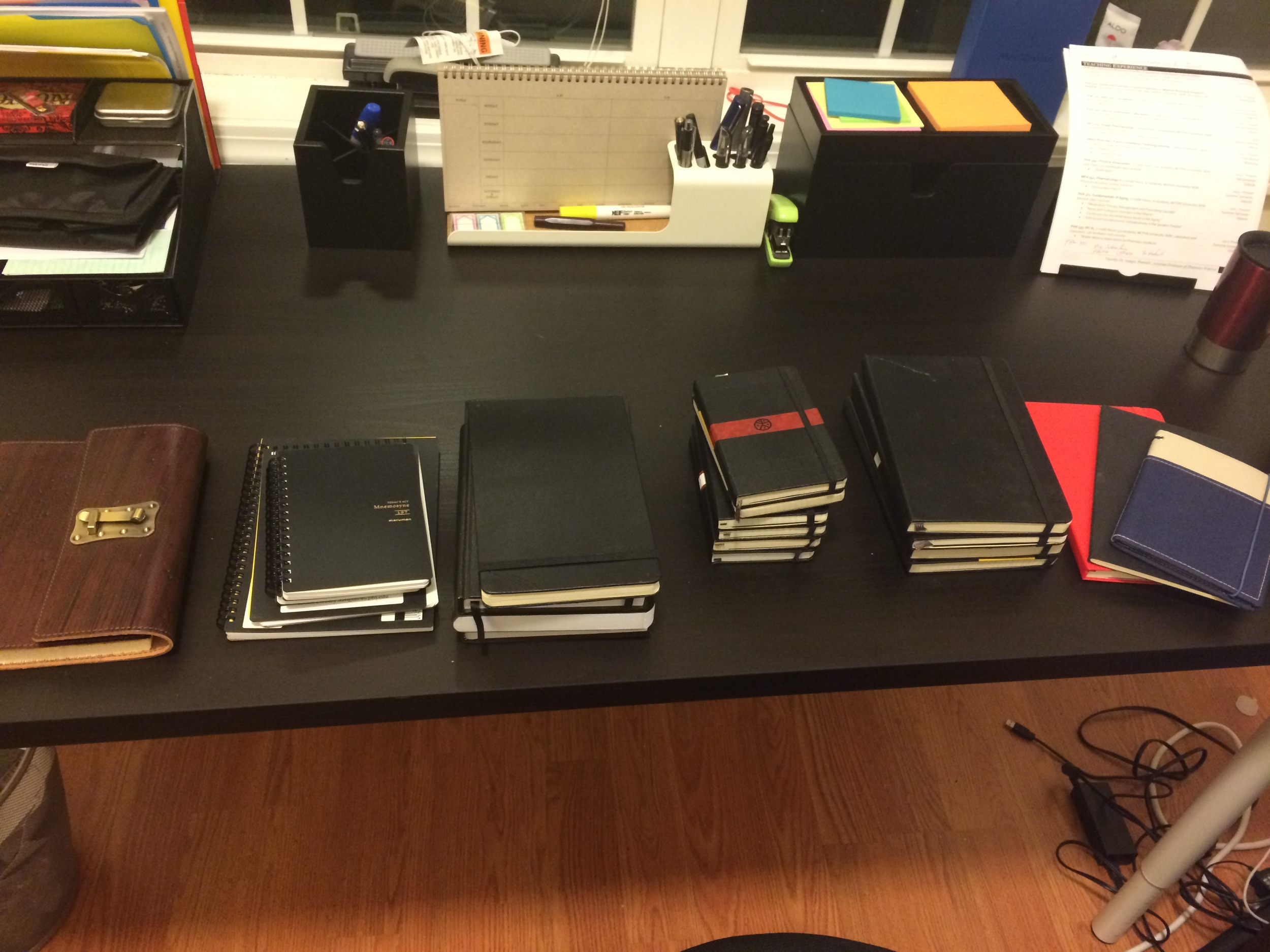 Most of my journals and notebooks.
