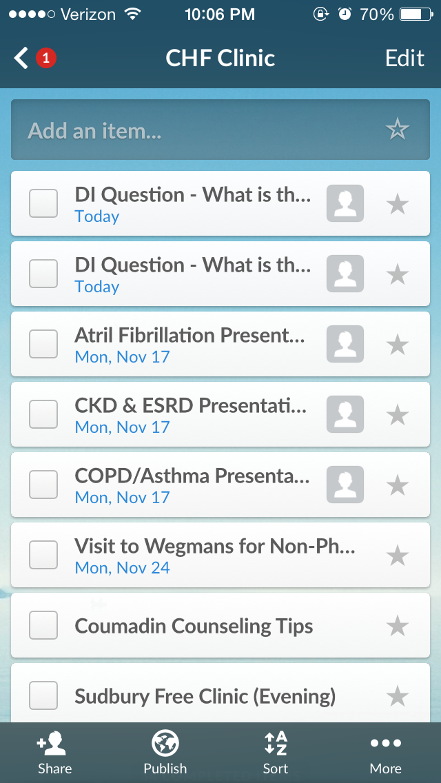 Student Assignment List