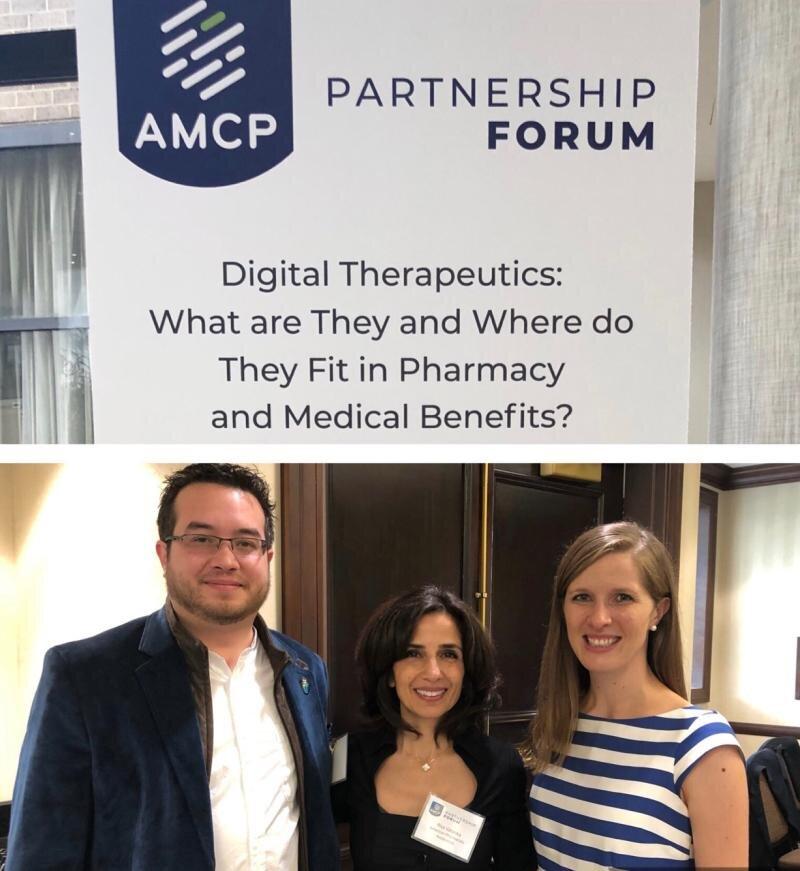 Some of my favorite people in Digital Health: Parisa Vatanka (APhA) and Megan Coder (The Digital Therapeutics Alliance)