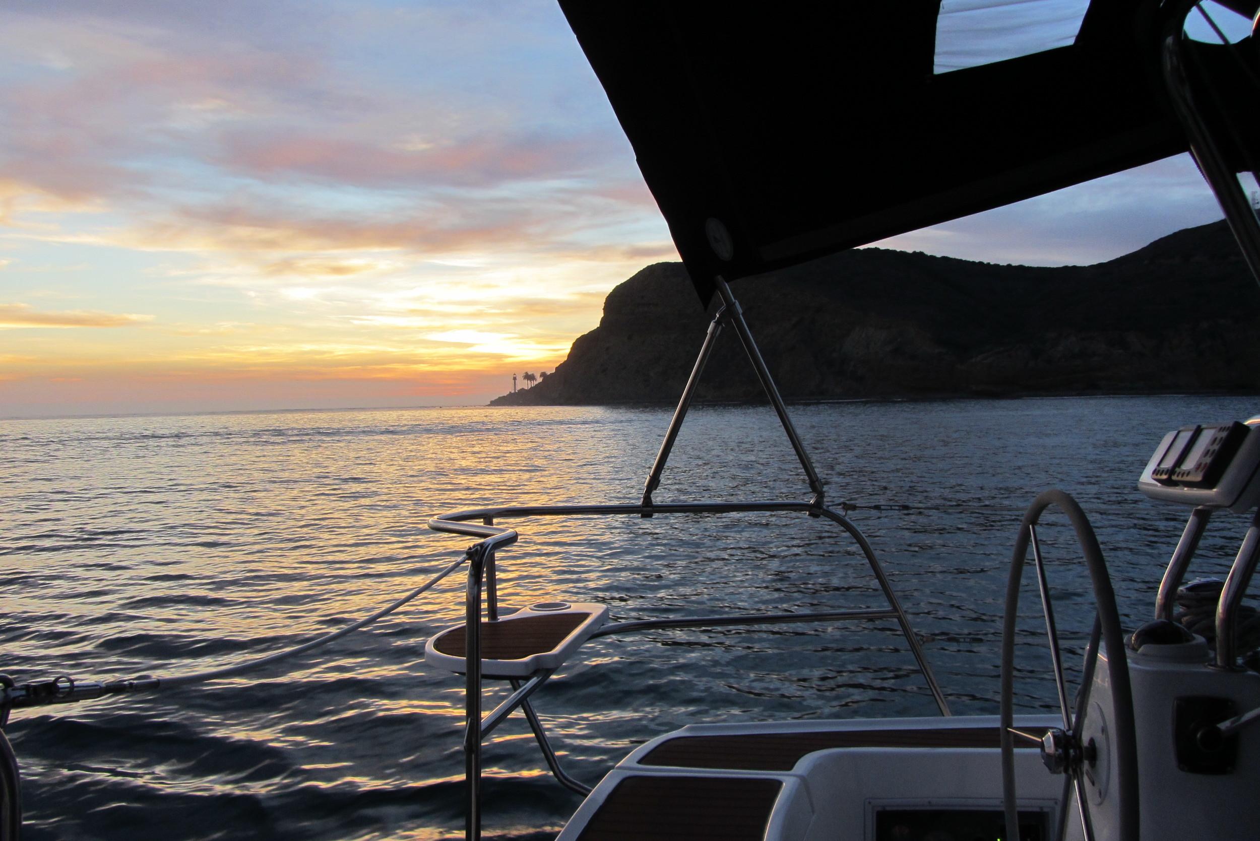 San Diego Sunset Sailing Point Loma