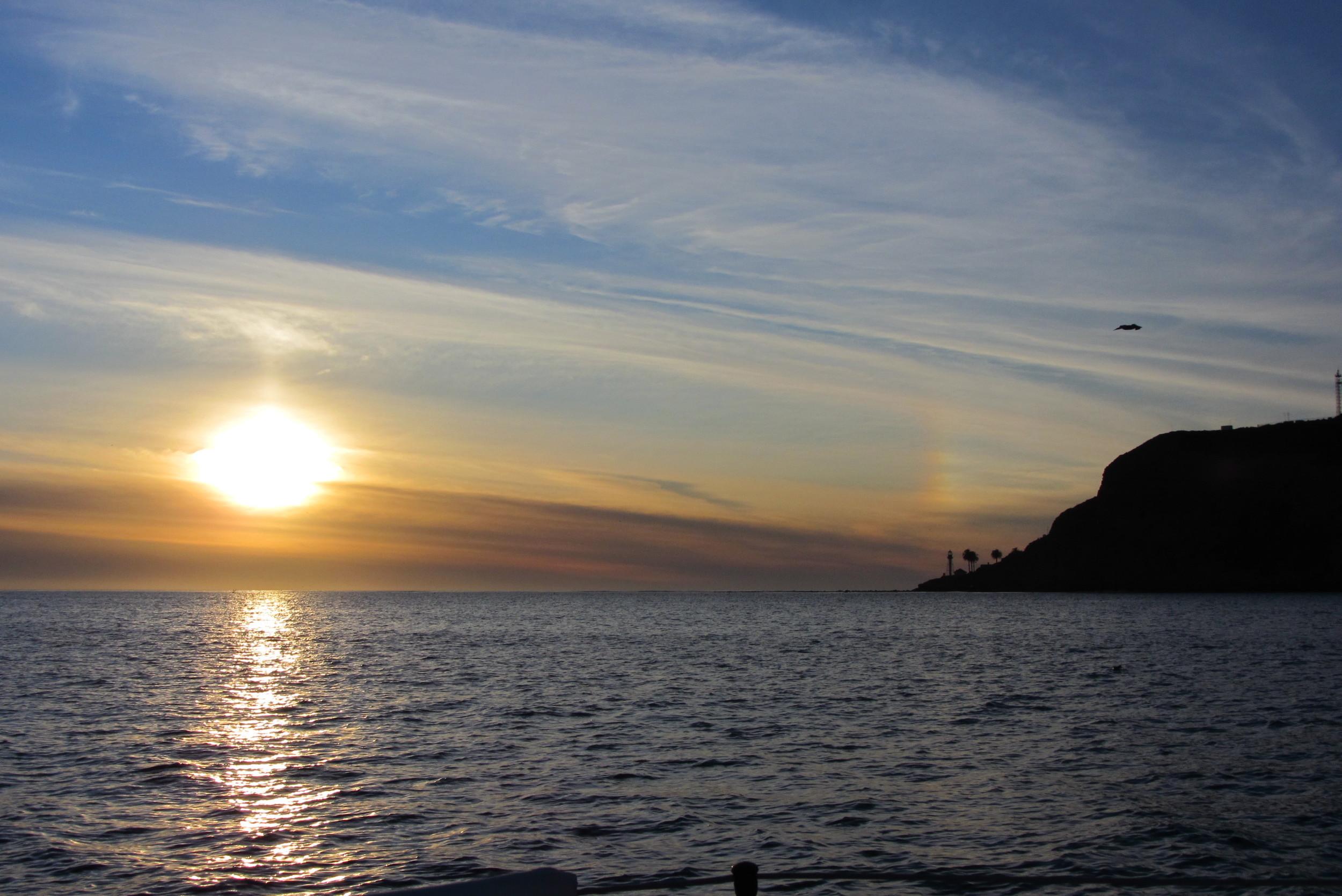 Sunset sailing Point Loma