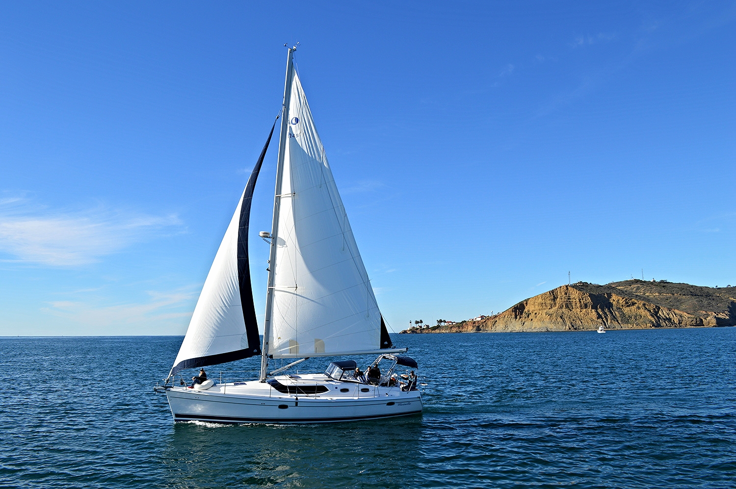 San Diego sailing charter off Point Loma