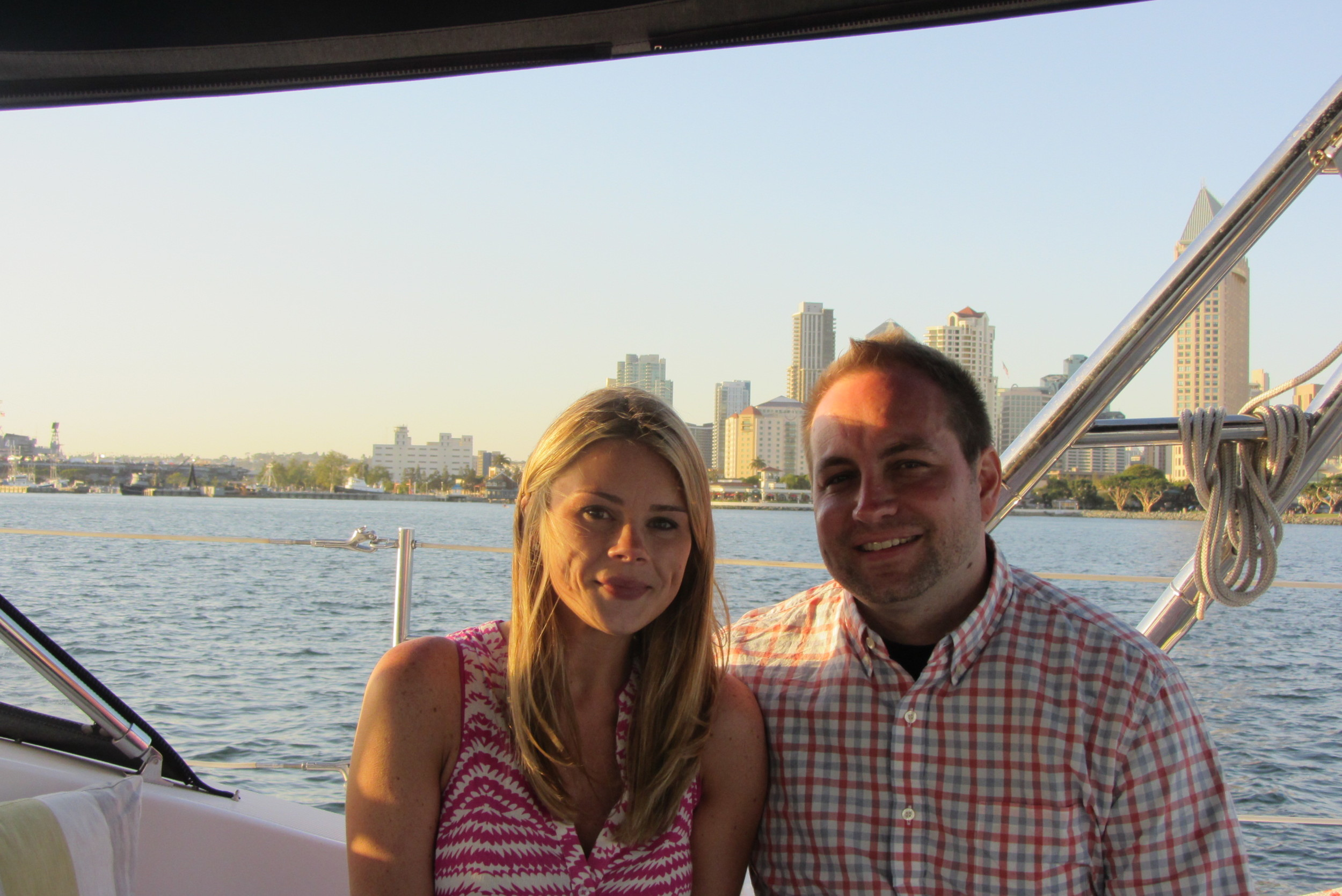 Engagement Sailing Cruise in San Diego