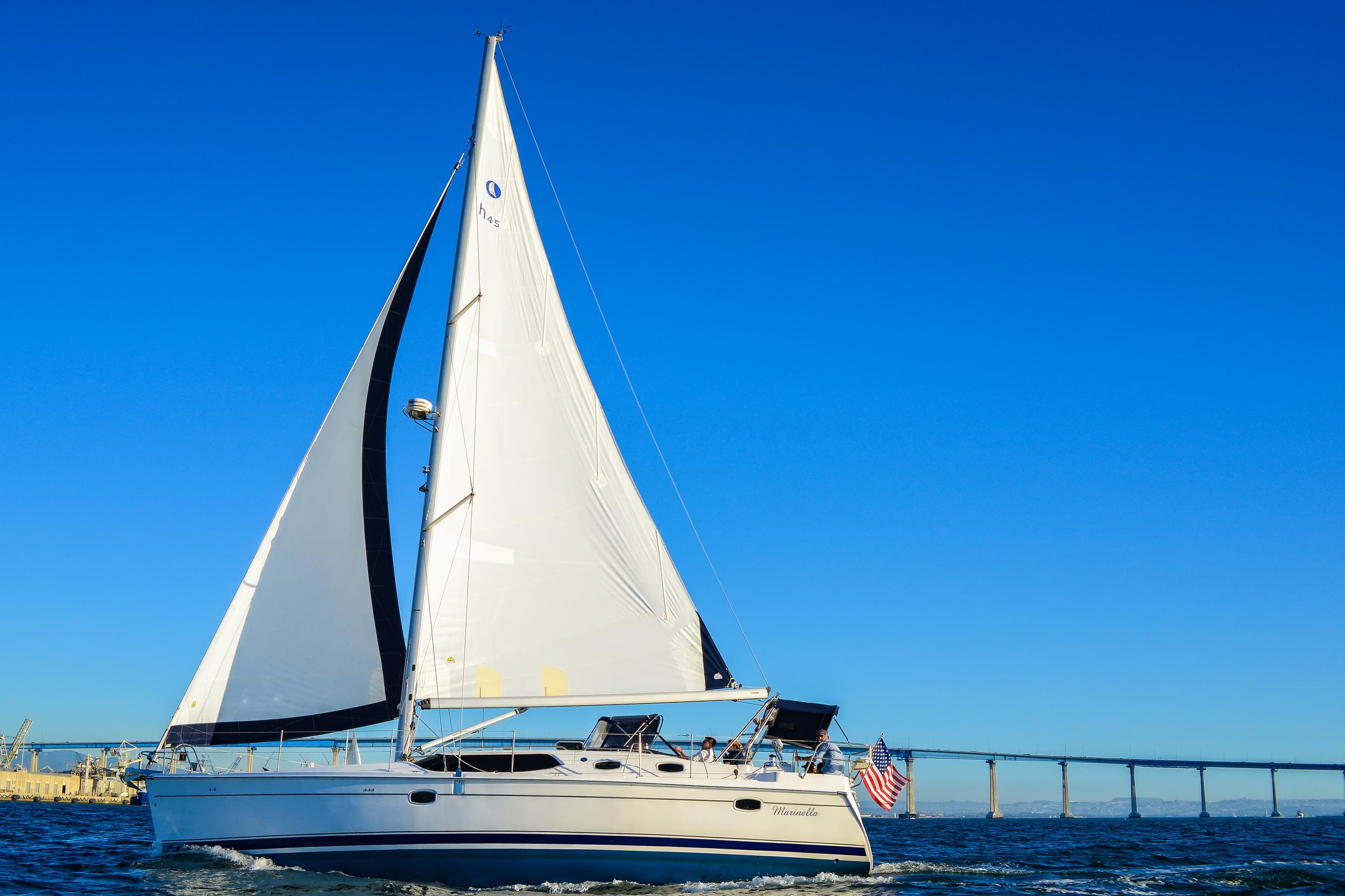 Sailing San Diego Coronado Bridge