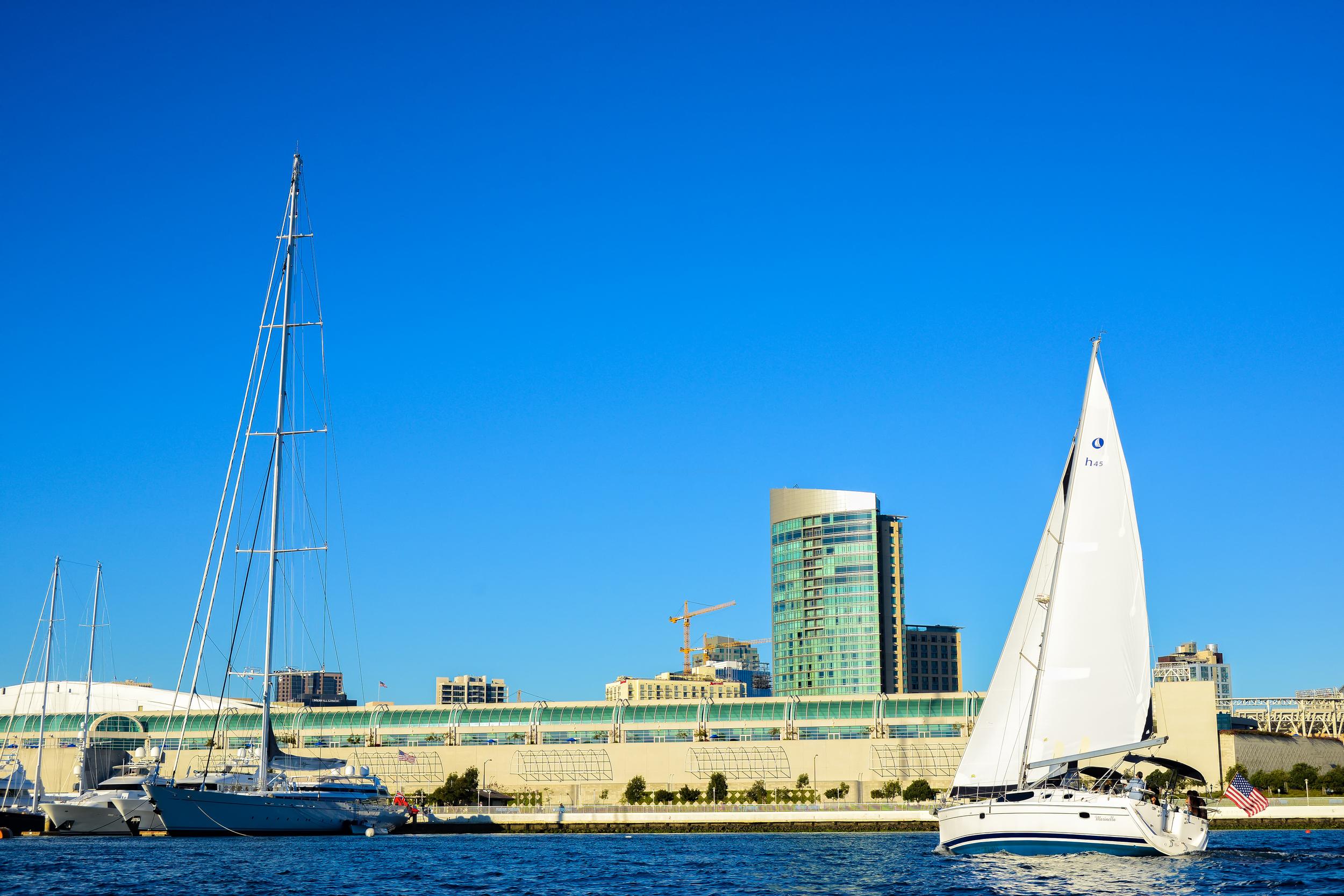 Sailing Downtown San Diego