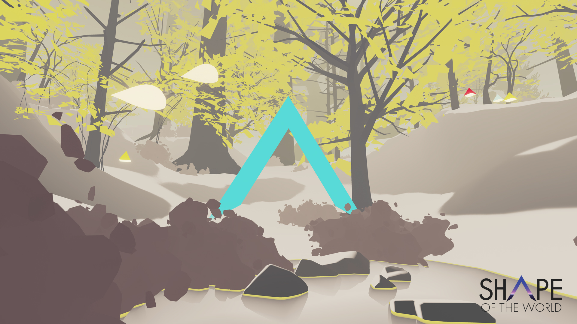 This triangle shape is a gate that the player can place in the forest. Going through it changes ... well, you'll see.