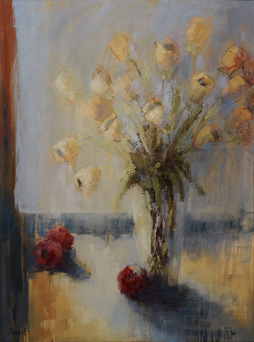 Tulips and Plums 40X30
