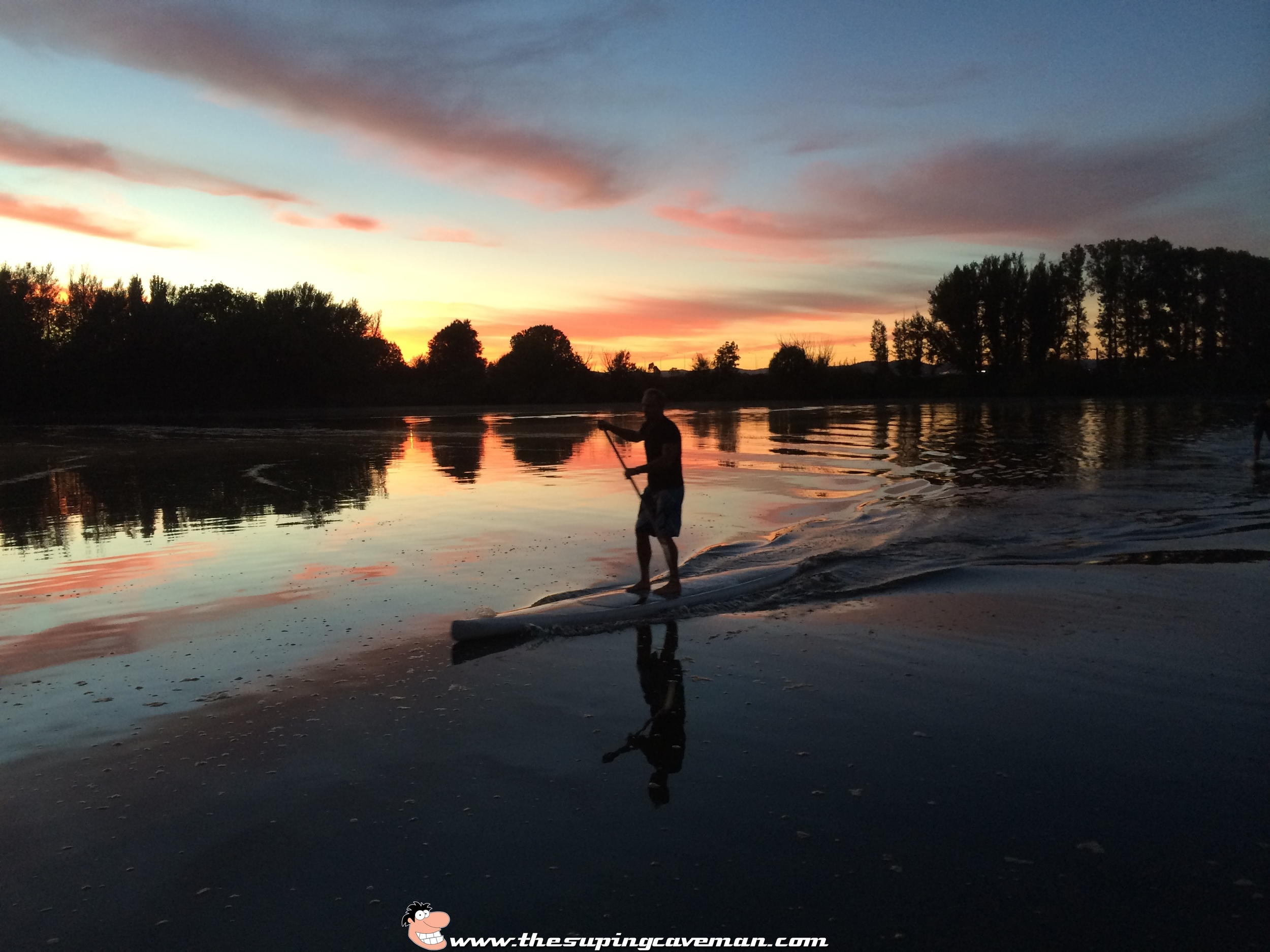 Capital SUP paddler Pete Garbutt heading in for his next activity