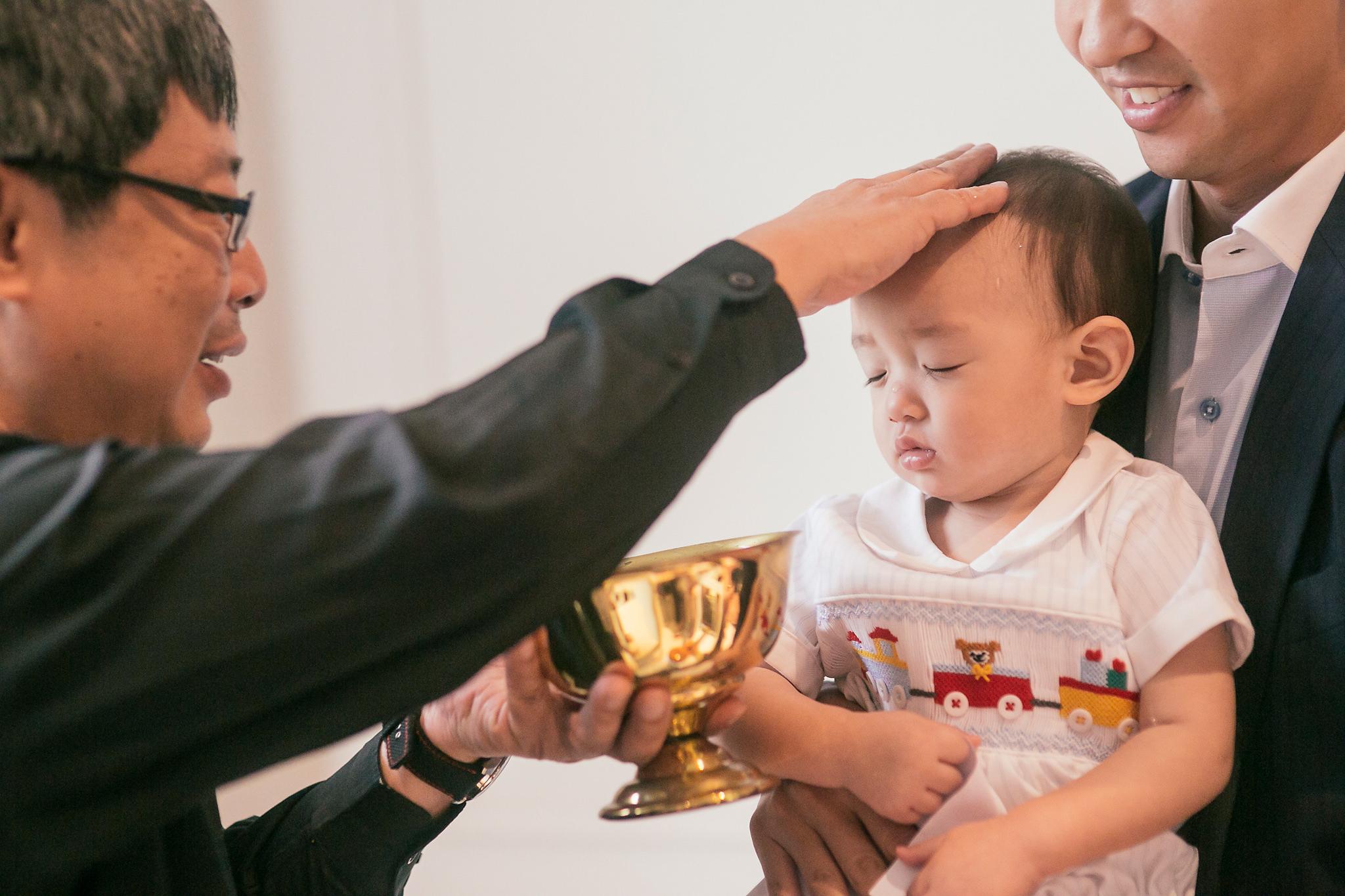 Luke's turn to get baptised!
