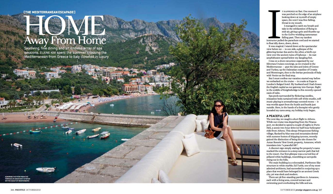 The Mediterranean Escapade, Prestige Oct 2013 [ Greece, Croatia, Montenegro, Italy ]