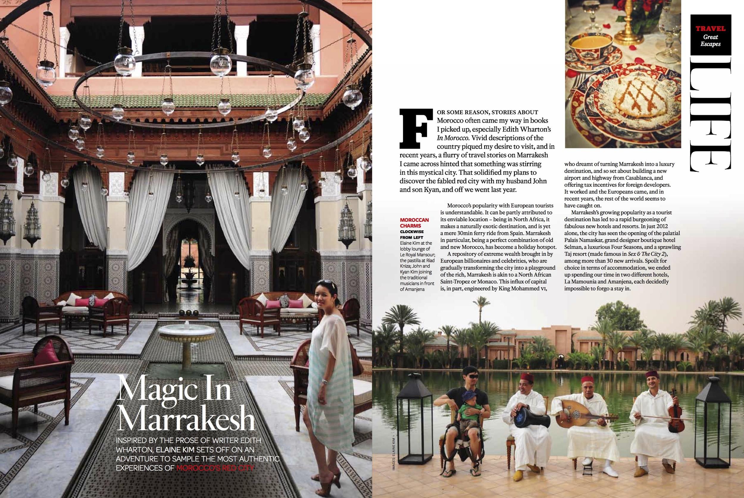 Magic in Marrakesh, Tatler Aug 2013 [ Morocco ]
